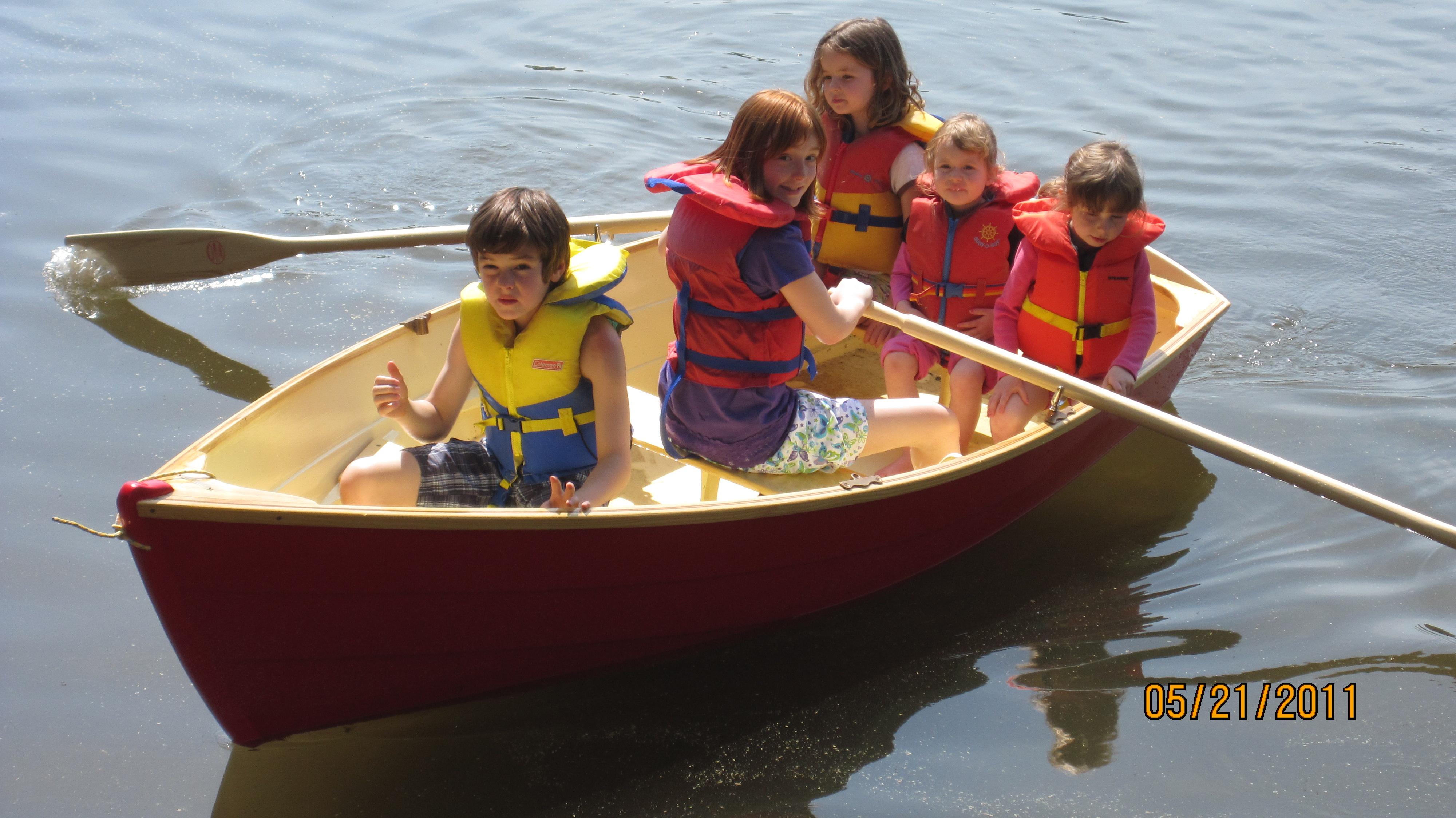 10ft Mallard - Flat Bottomed Sail and Rowboat - Harwood Water Craft
