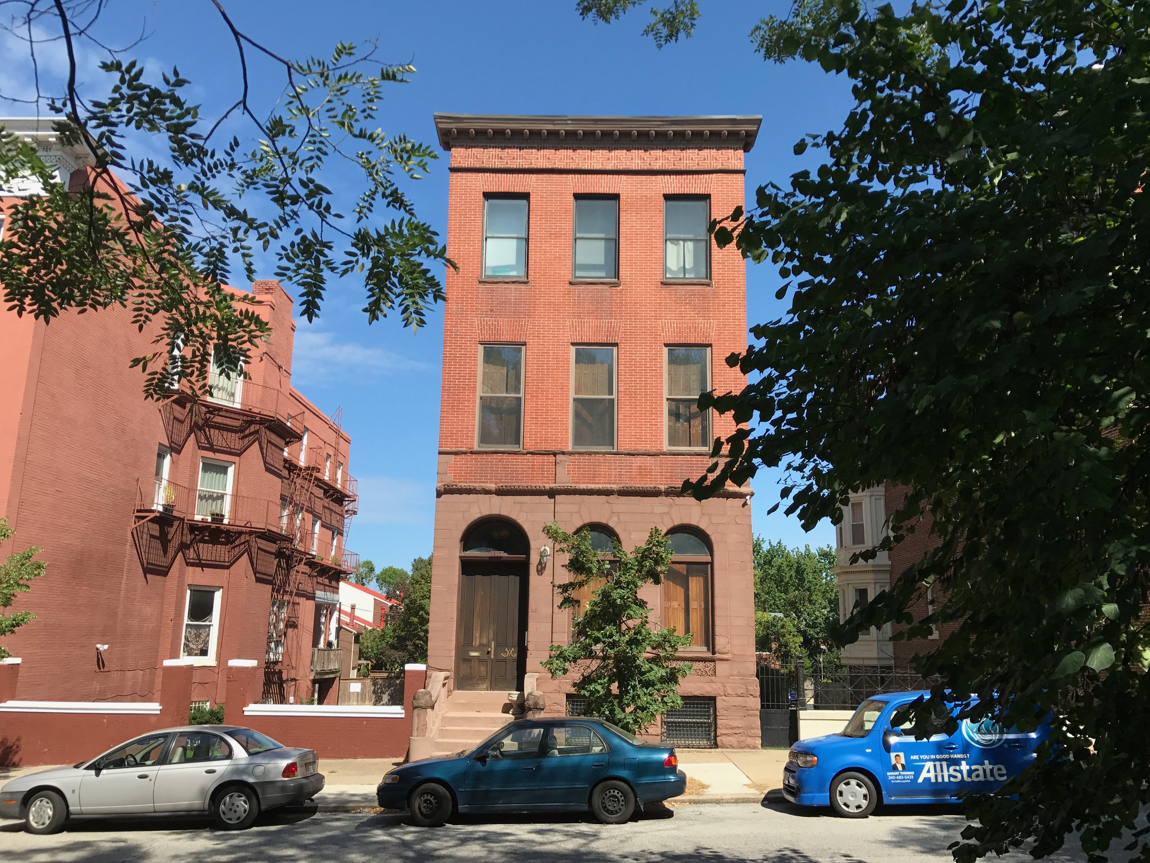 Rowhouse, 1317 Eutaw Place, Baltimore, MD 21217, Baltimore, Bolton Hill, Building, Car, HQ Photo