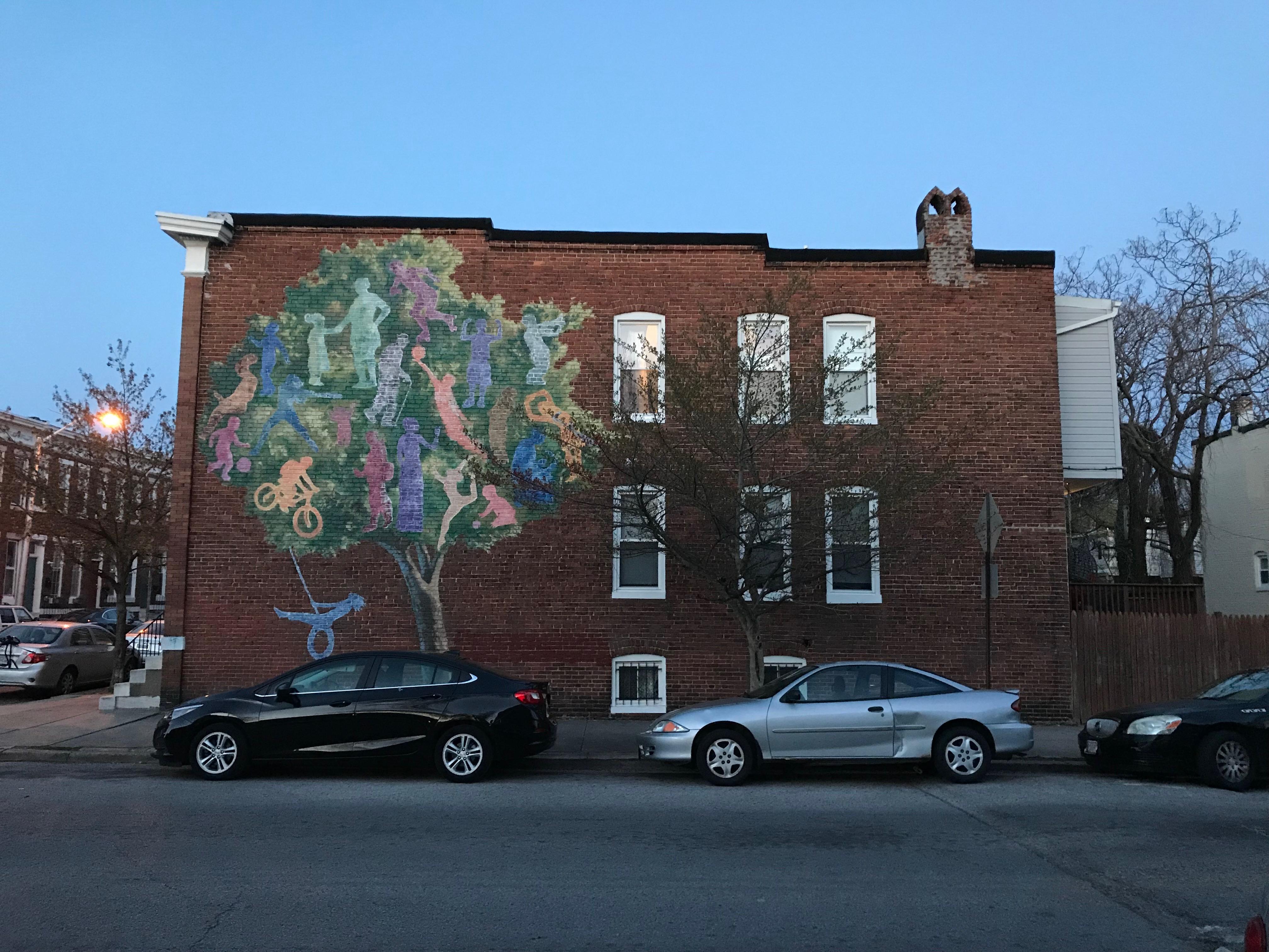 Rowhouse mural, 401 whitridge avenue, baltimore, md 21218 photo