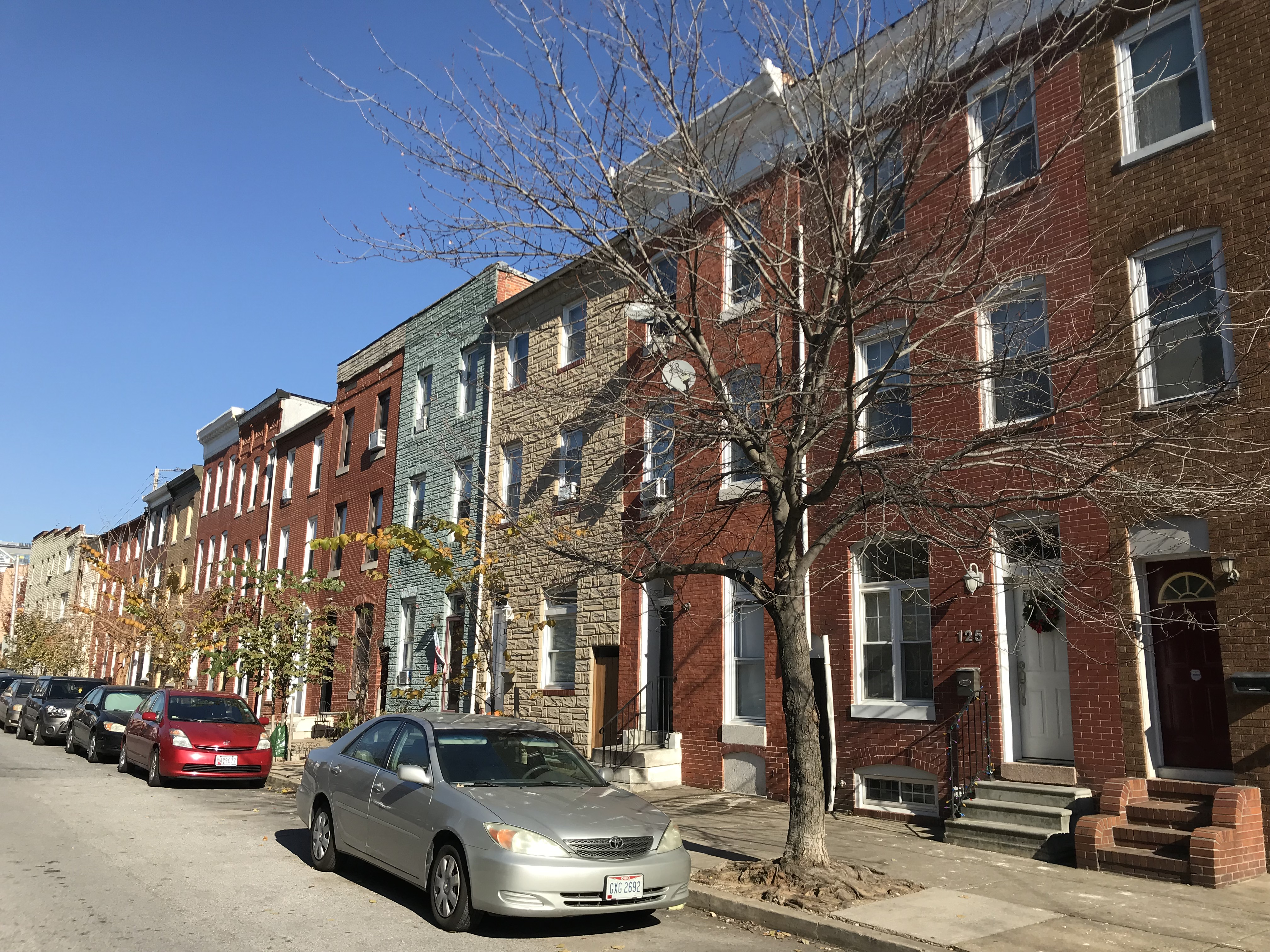 Rowhouses, 100 block of s. ann street (east side), baltimore, md photo