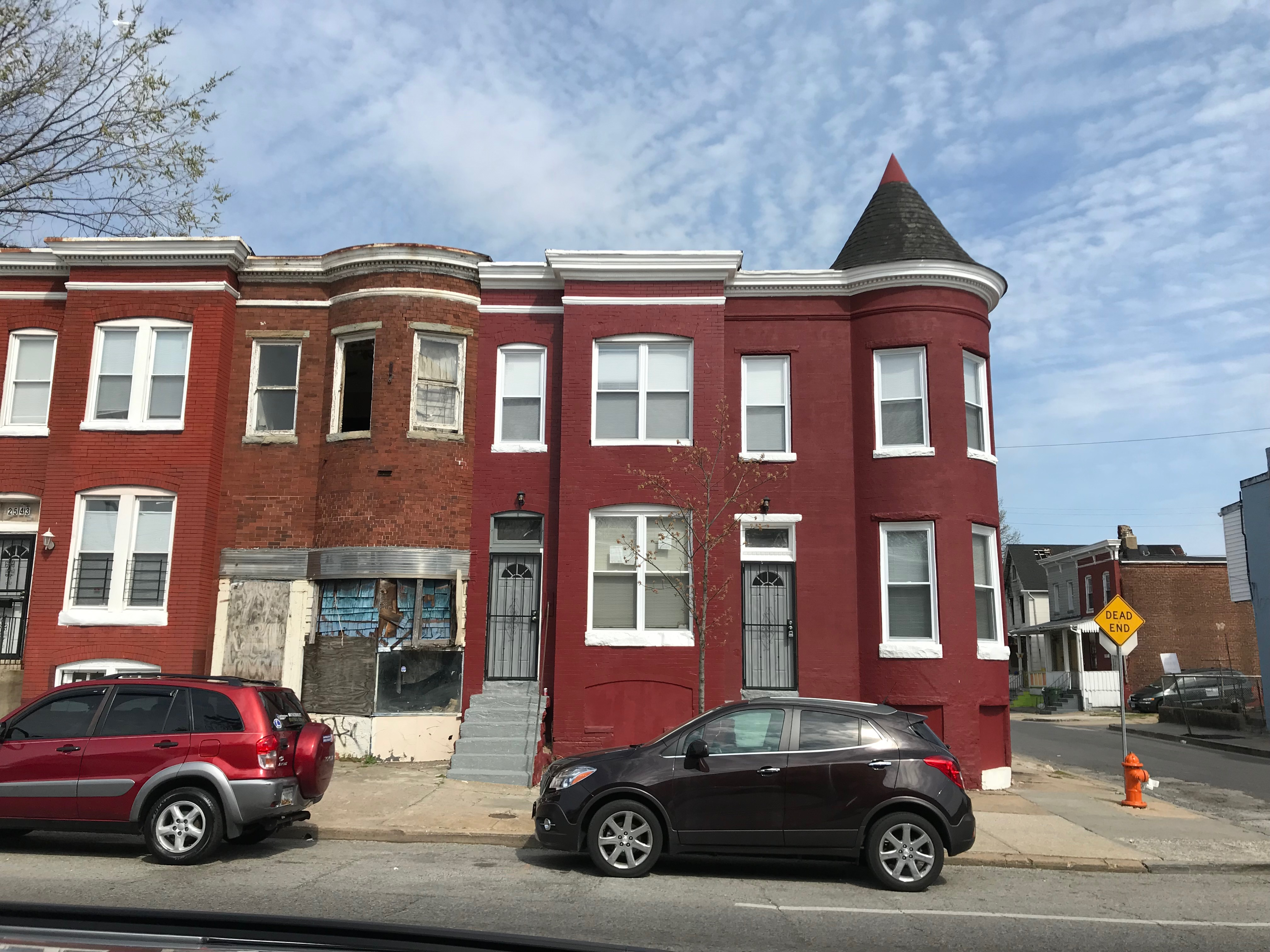Rowhouses, 2537-2541 Greenmount Avenue, Baltimore, MD 21218, 26th Street, Baltimore, Building, Car, HQ Photo