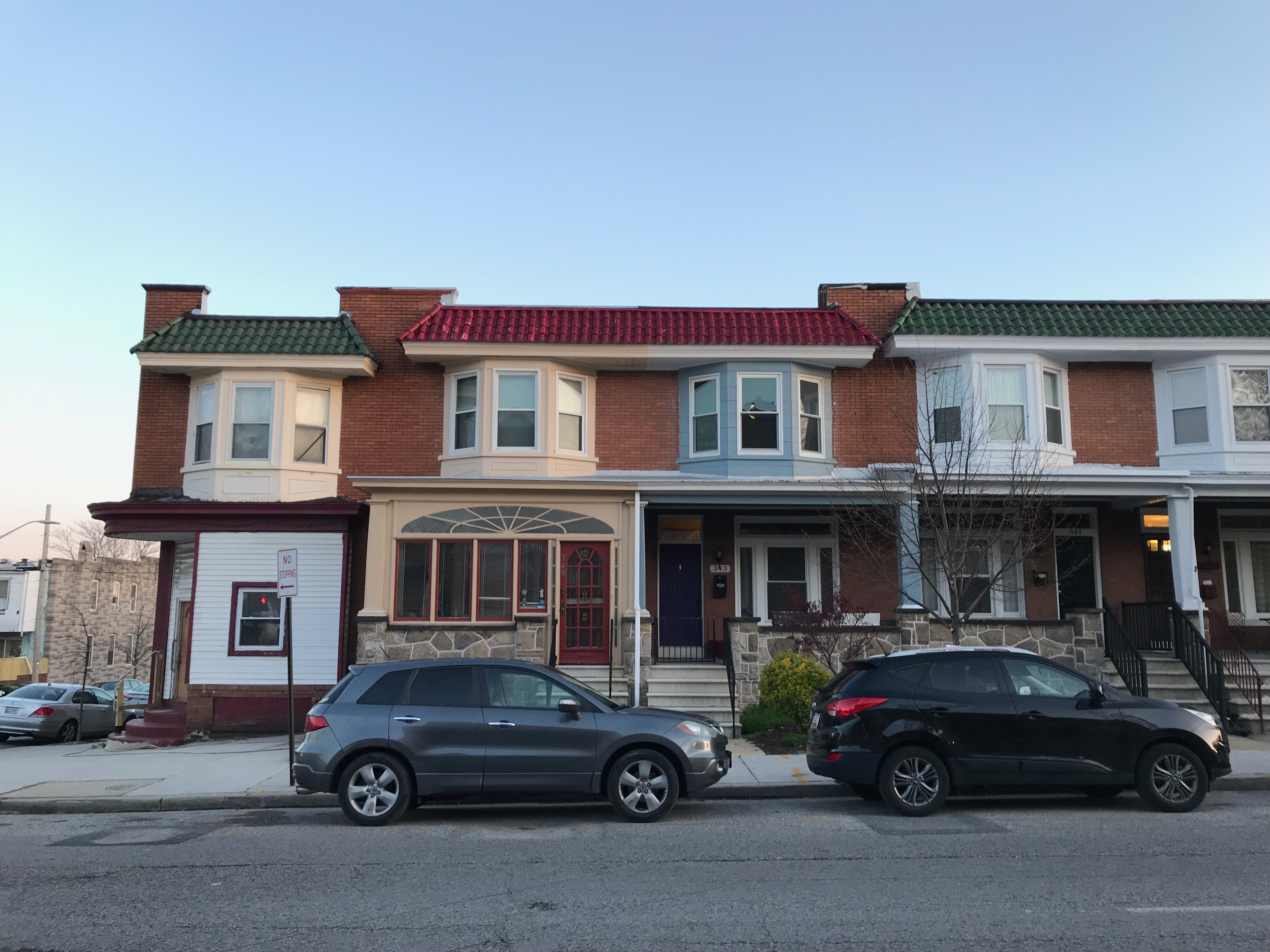 Rowhouses, 341-347 E. 29th Street, Baltimore, MD 21218, Barclay Street, Building, Car, Charles Village, HQ Photo