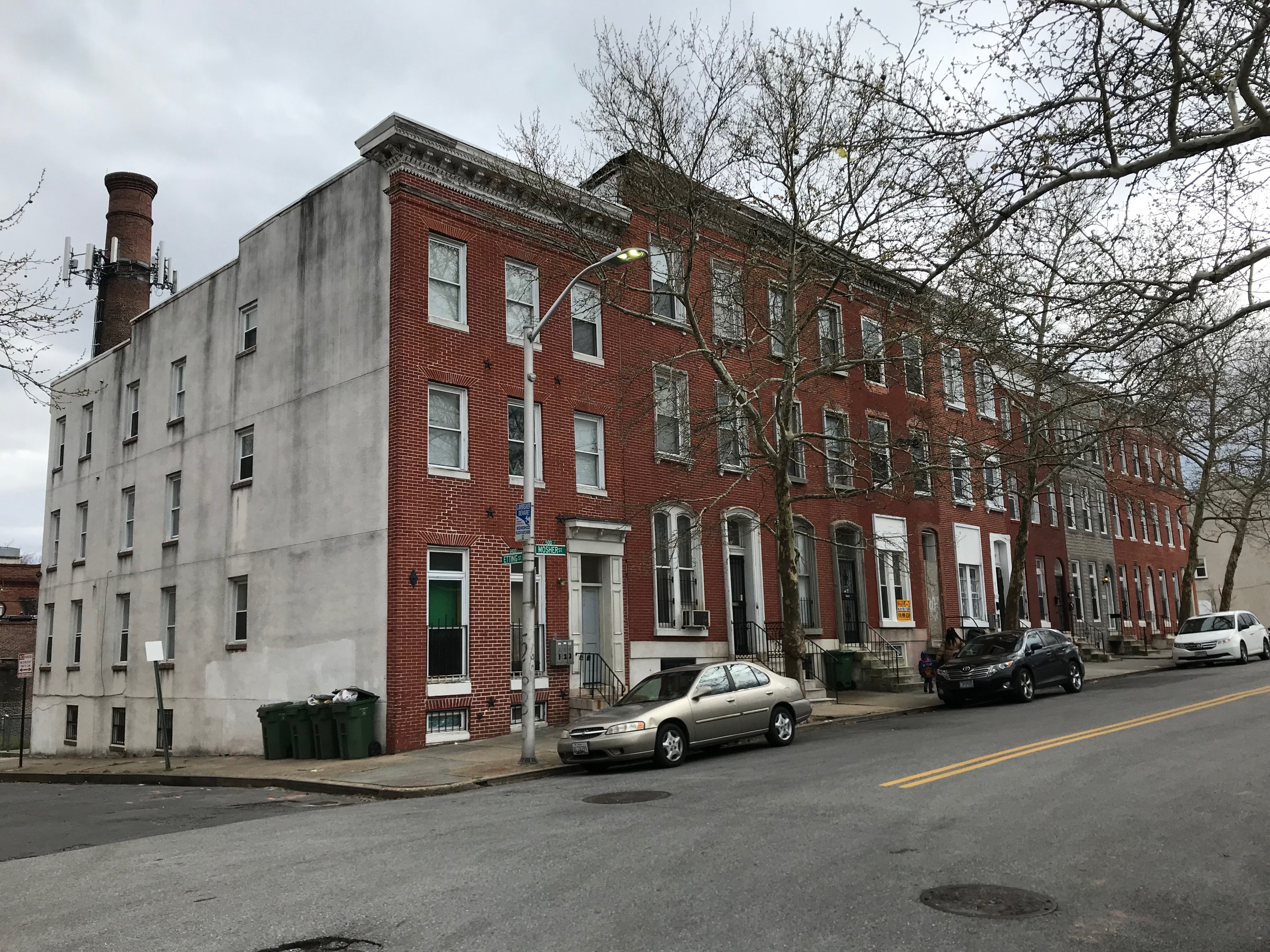 Rowhouses, 500 block of w. mosher street (south side), baltimore, md 21217 photo