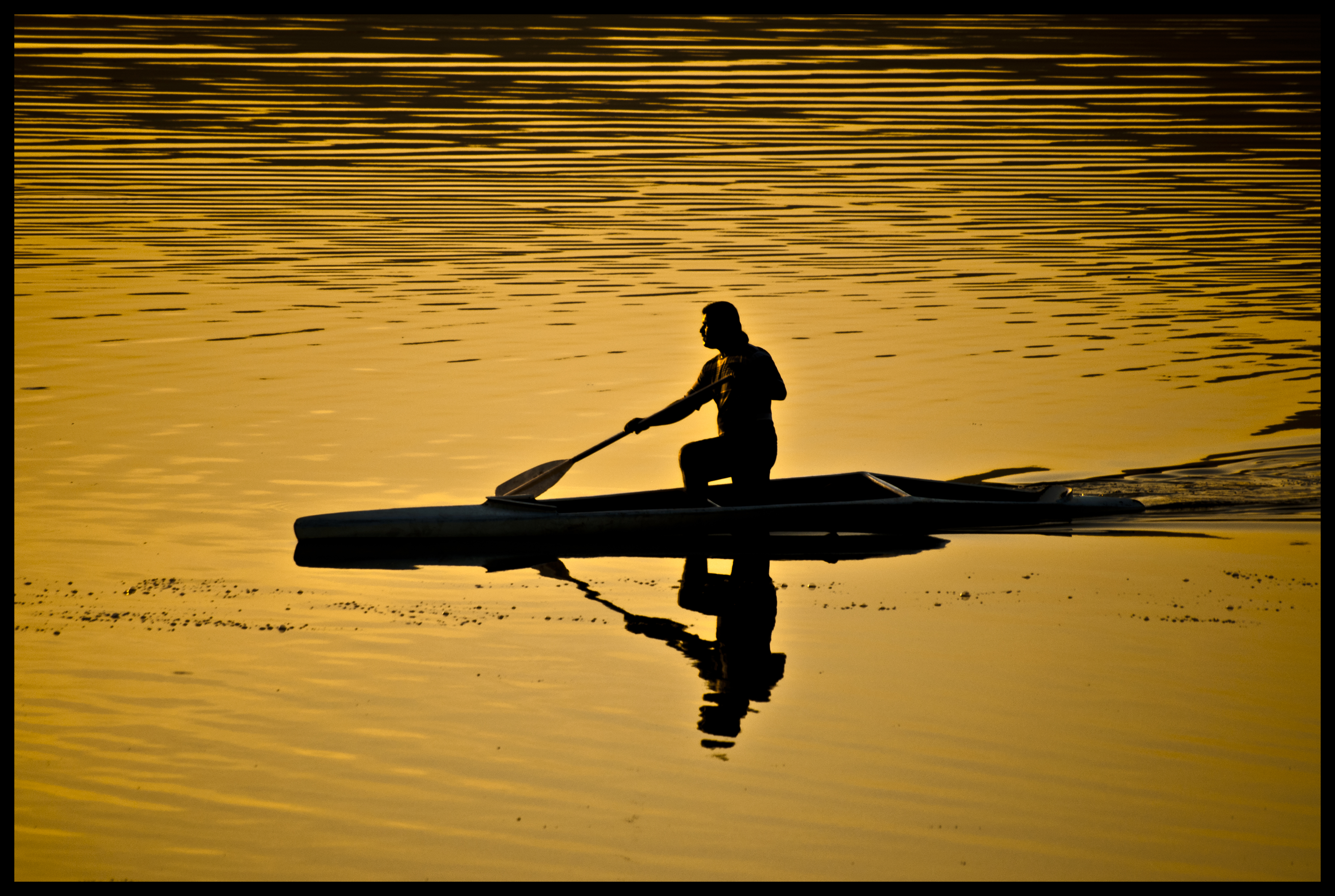 Rowing alone photo