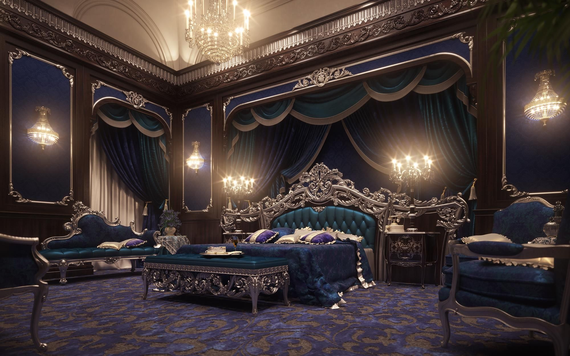 Royal bedroom photo