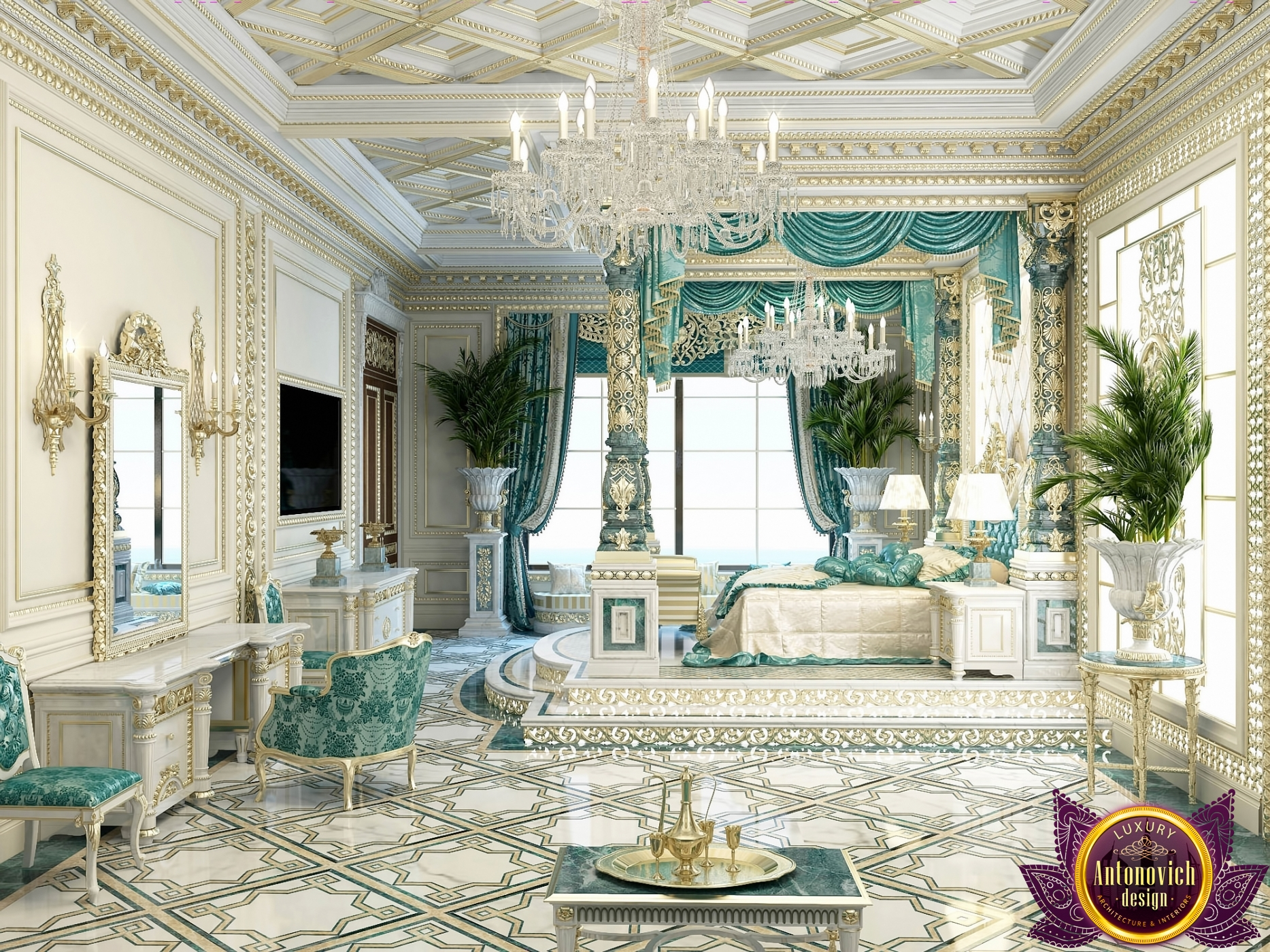 Exclusive Royal Master Bedroom Design implementation
