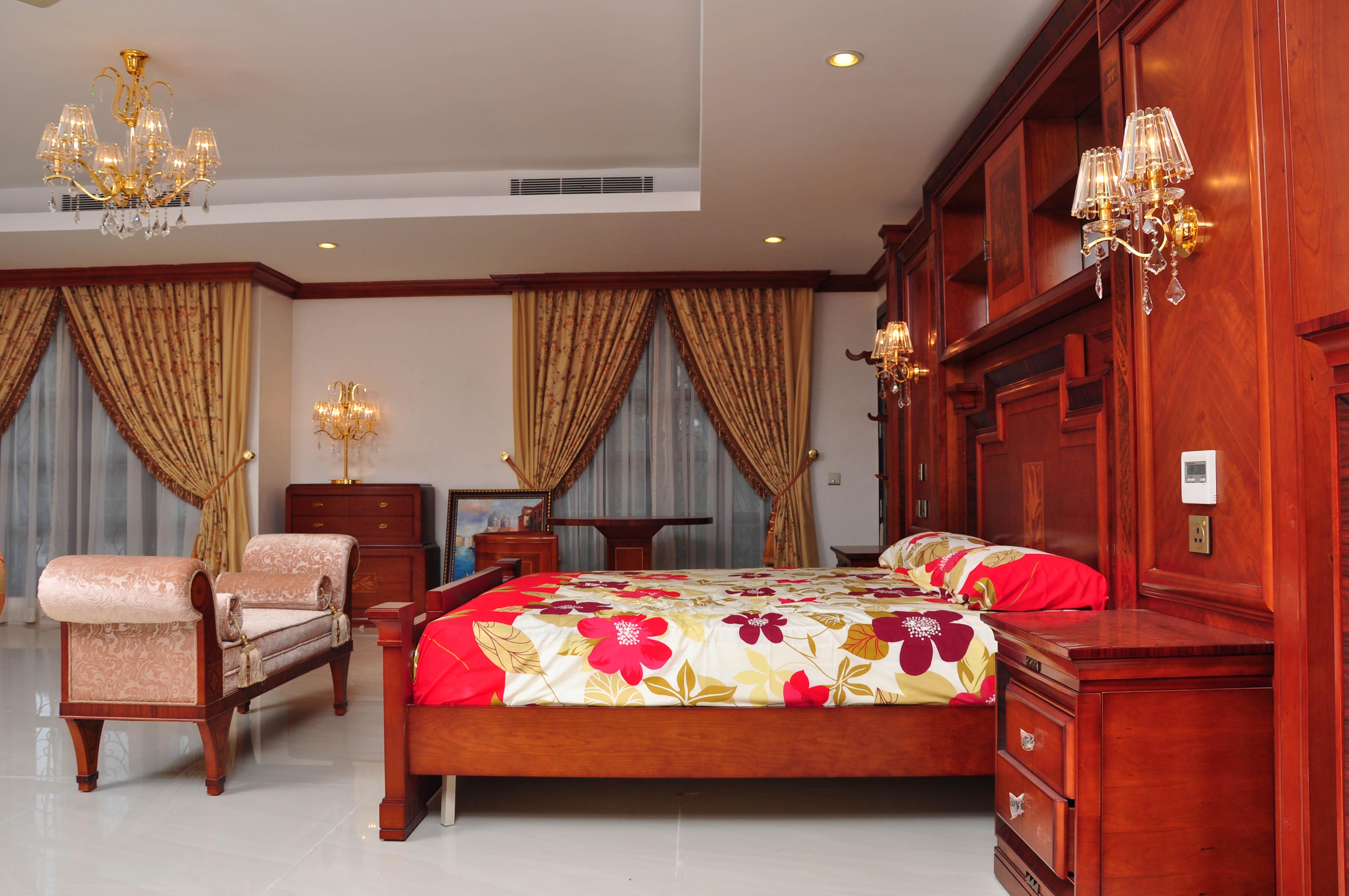 Royal Bedroom, Architect, Light, Wooden, Villa, HQ Photo