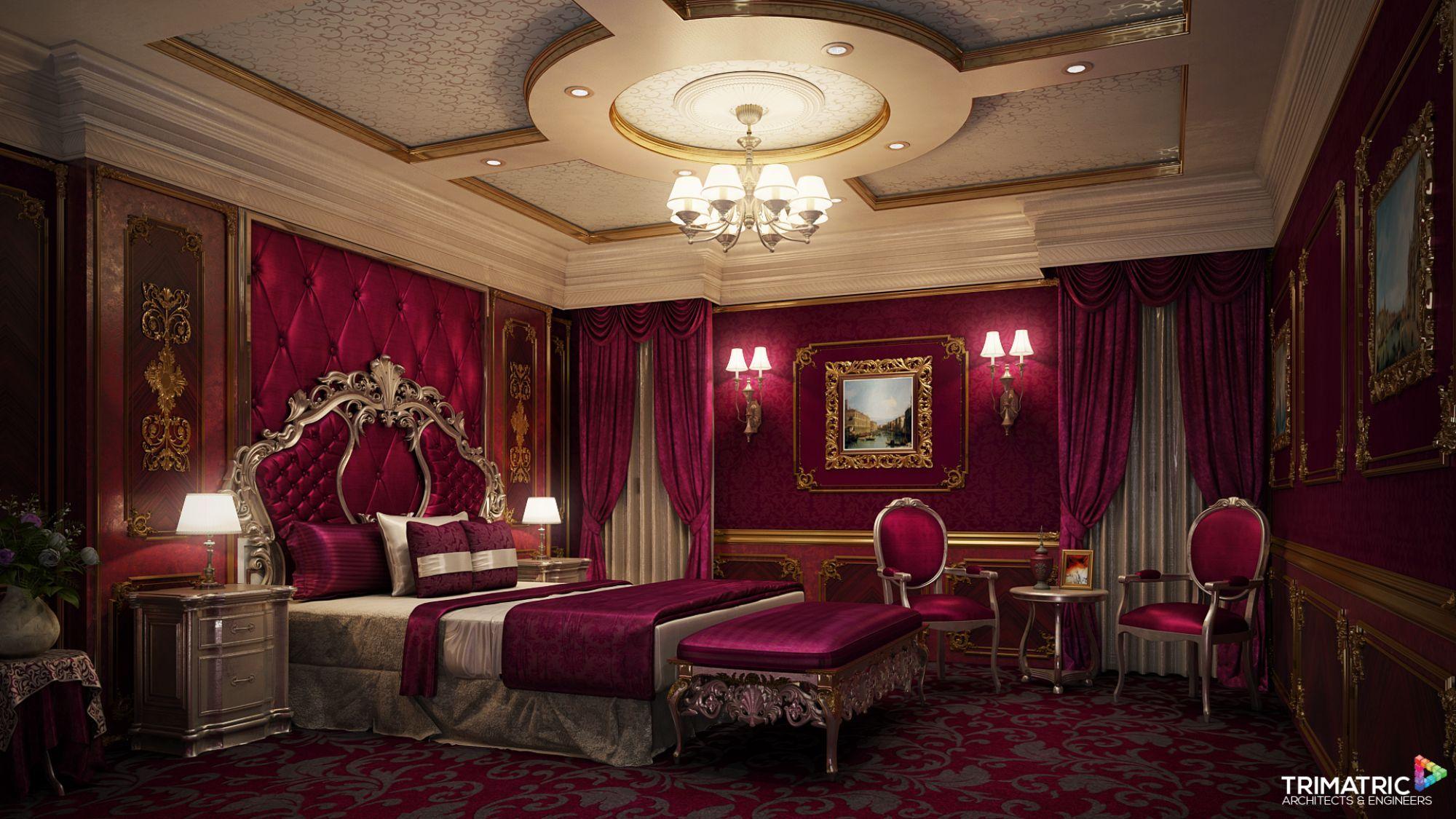 Image result for royal bedroom | Master - Burgundy | Pinterest ...