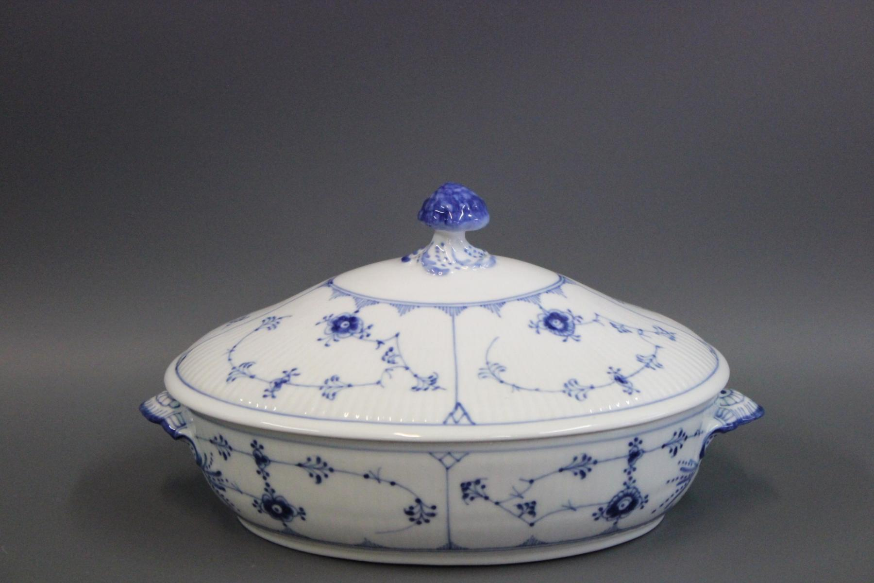 Blue and White Fluted Porcelain Tureen by Royal Copenhagen for sale ...