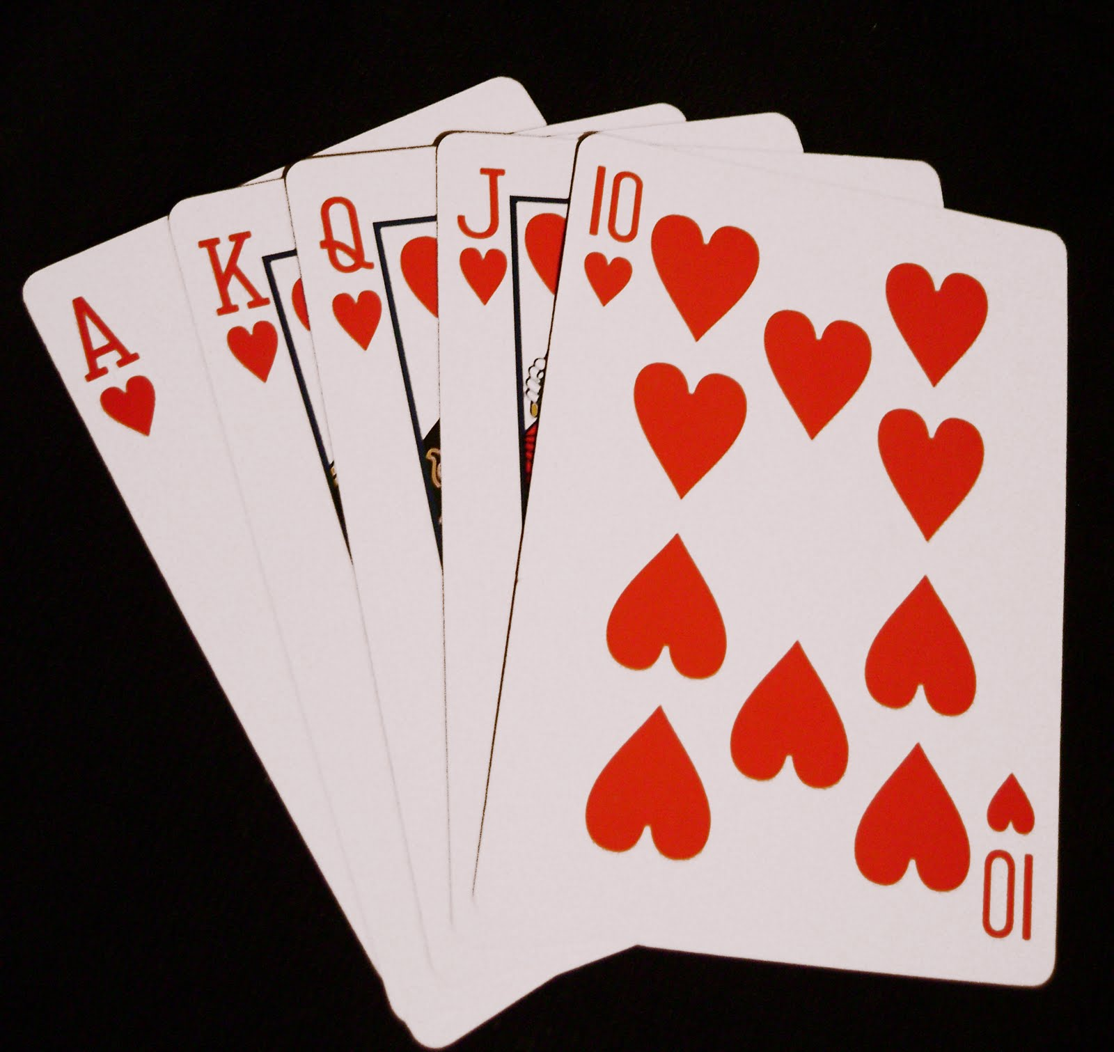 Royal Flush - Hearts Suit Straight Flush (Photo) | ALCHEssMIST Poker