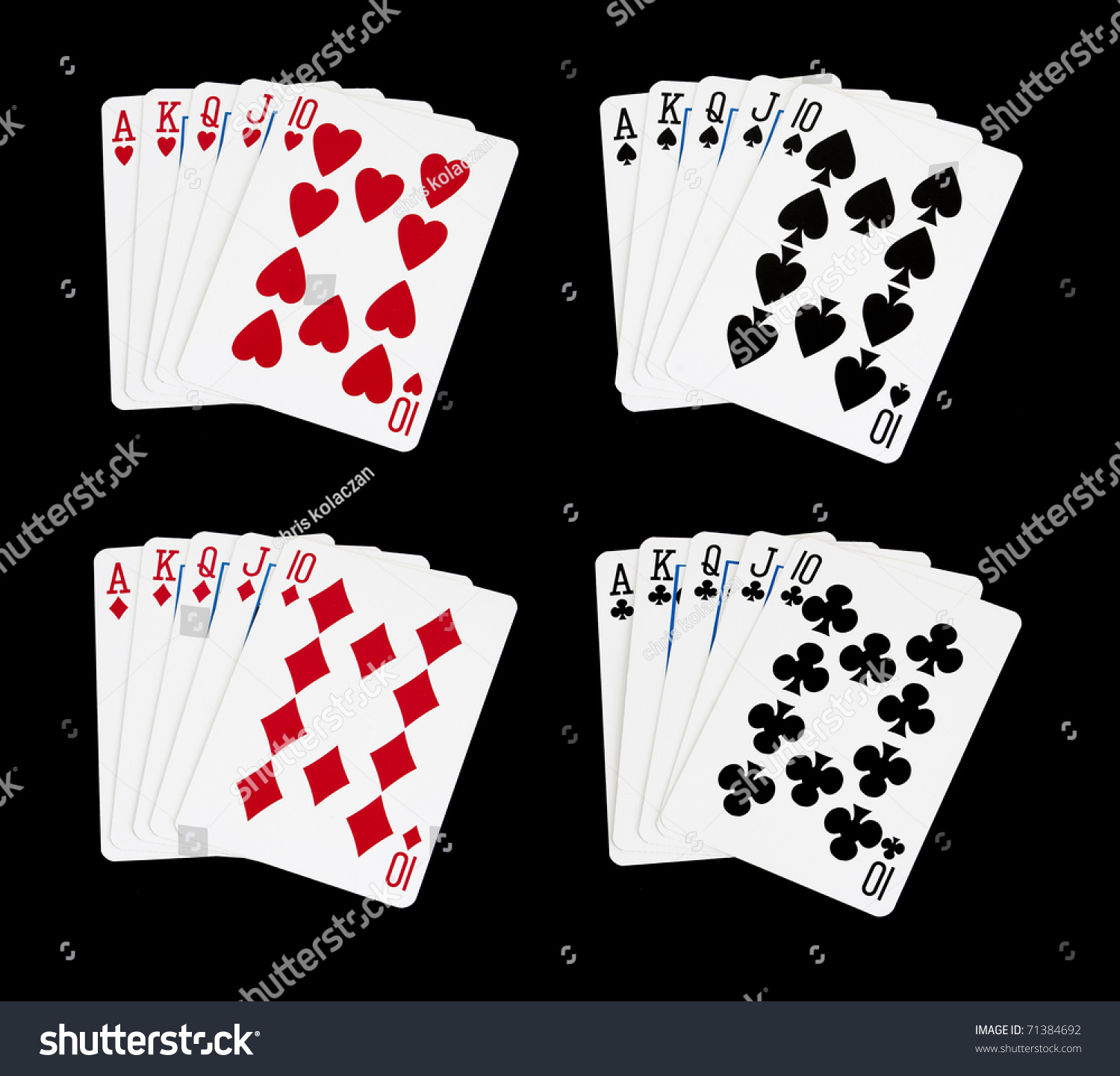 Royal Flush Best Hand Possible Poker Stock Photo & Image (Royalty ...