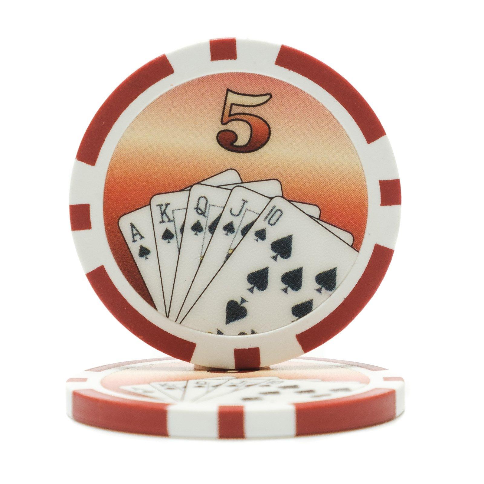 11.5 Gram Royal Flush Poker Chips (25/Pkg) | Casino Supply