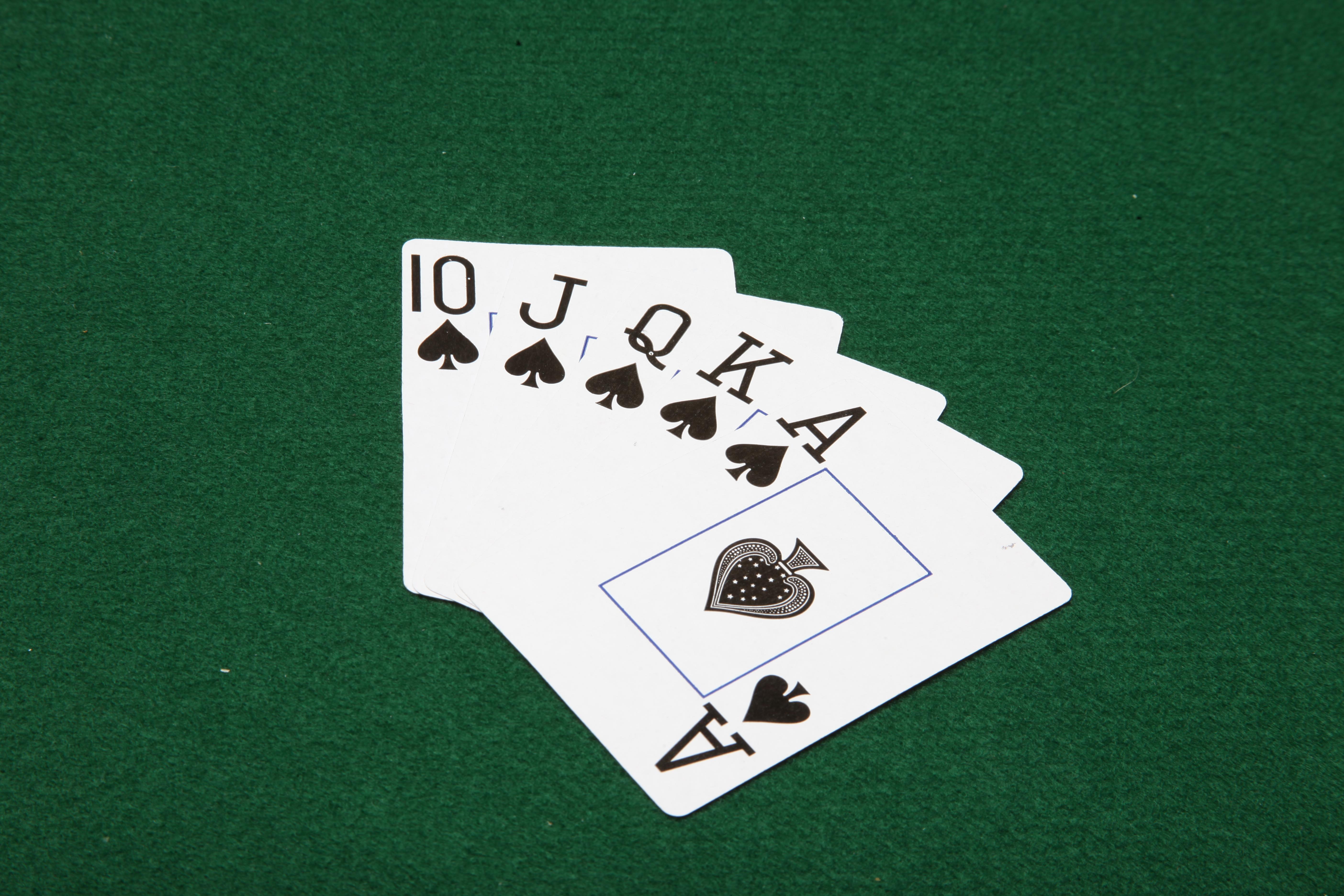 Royal Flush, 10, King, Ten, Table, HQ Photo