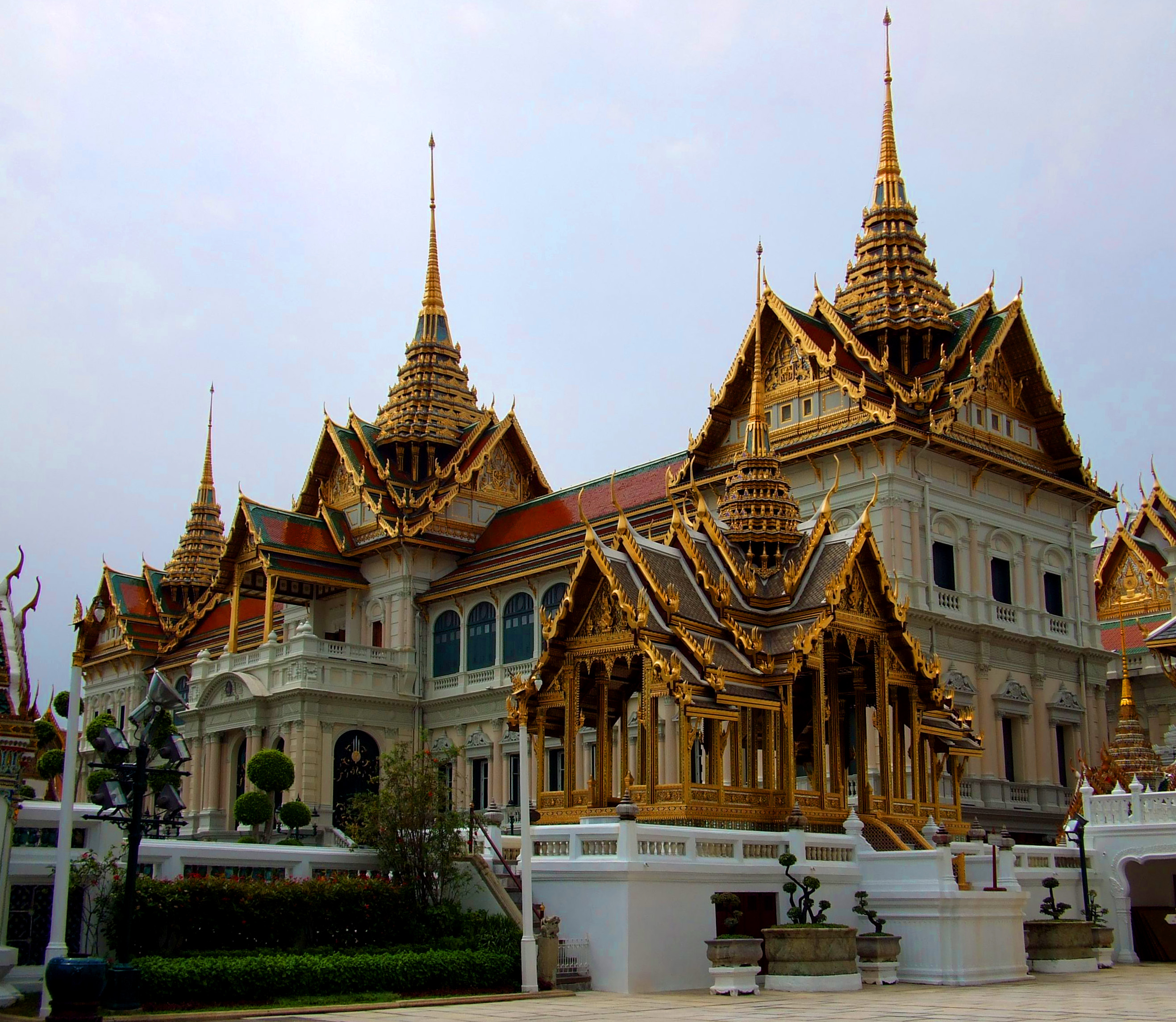 Royal Grand Palace at Wat Phra Kaew, Ancient, Sky, Oriental, Palace, HQ Photo