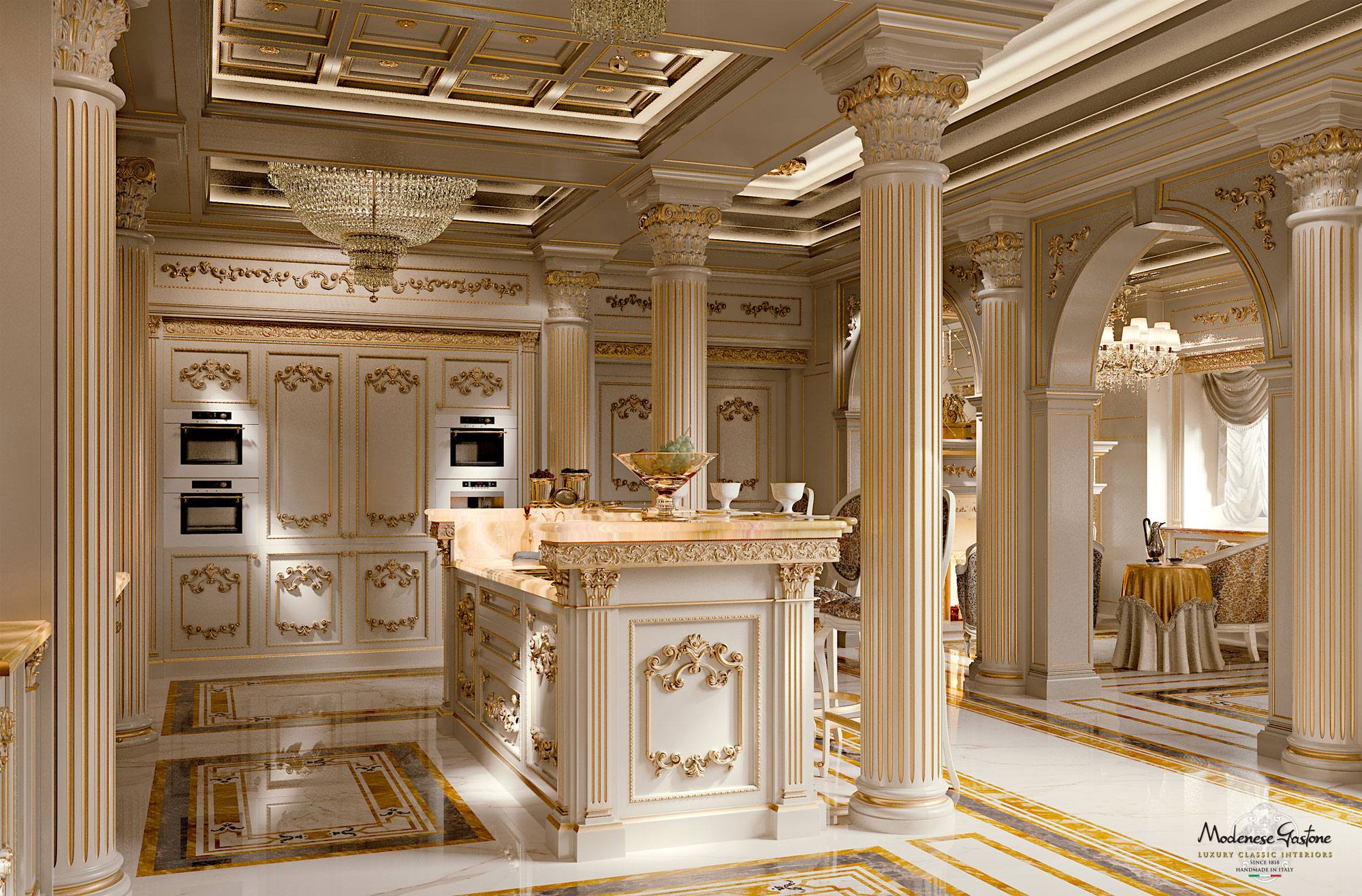 Free Photo Royal Kitchen Architect Kitchen Stock