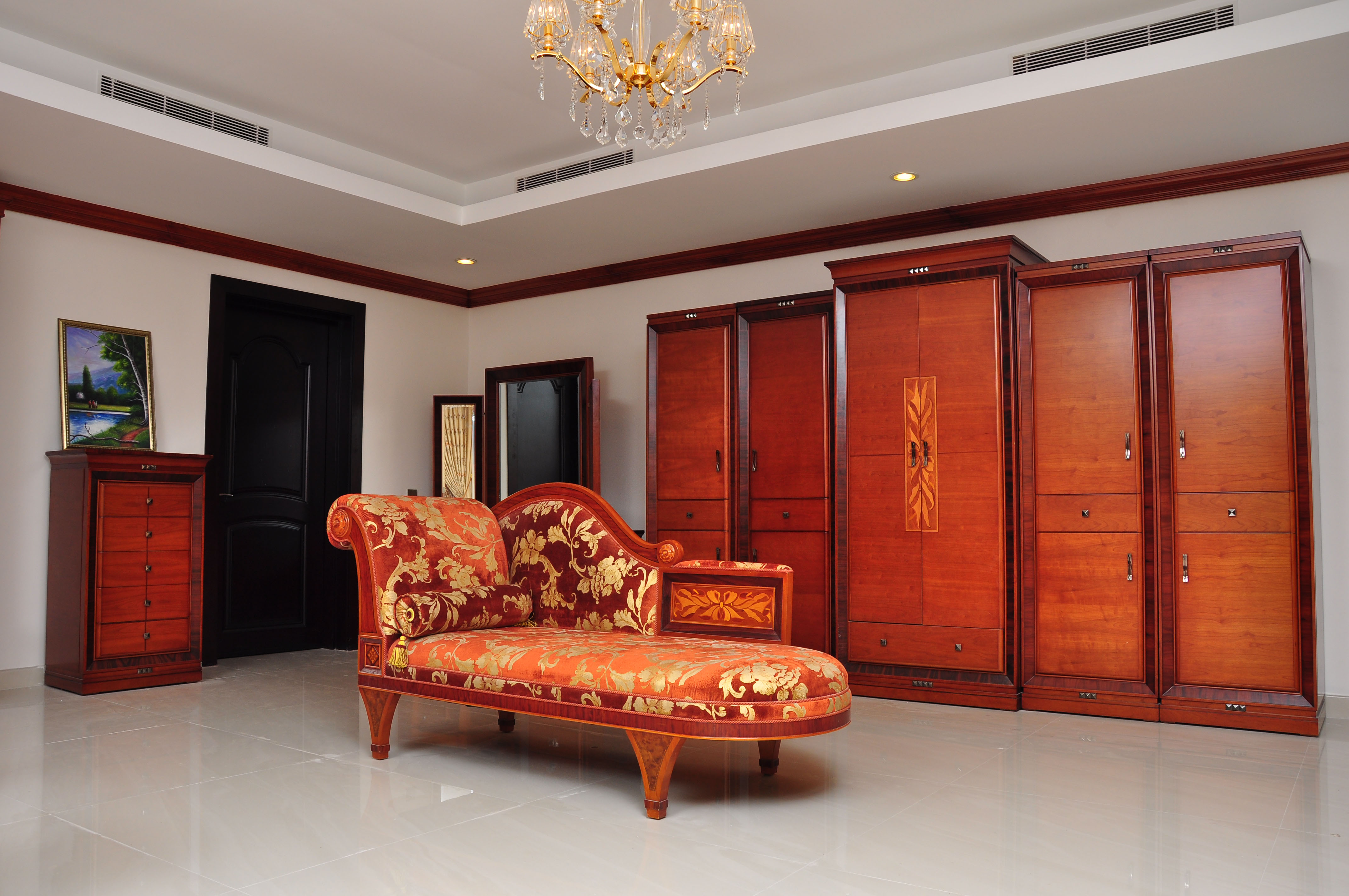 Royal Room and Sofa, Architect, Living, Wooden, Villa, HQ Photo