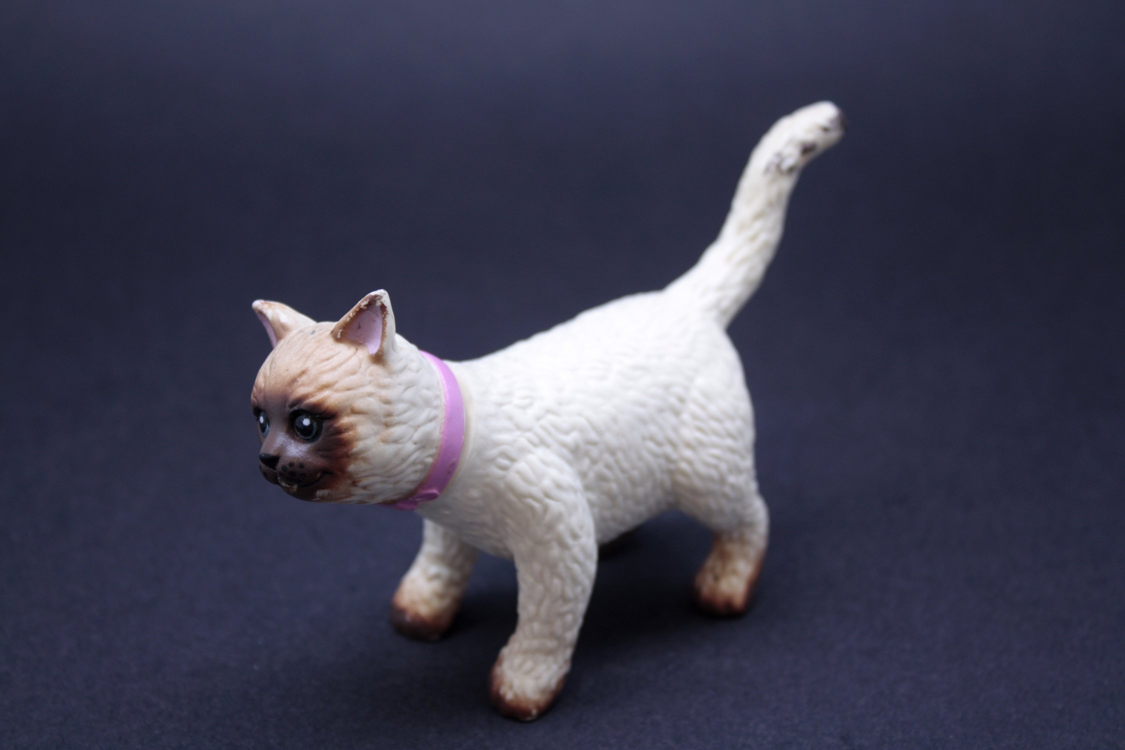 Rubber toy cat photo