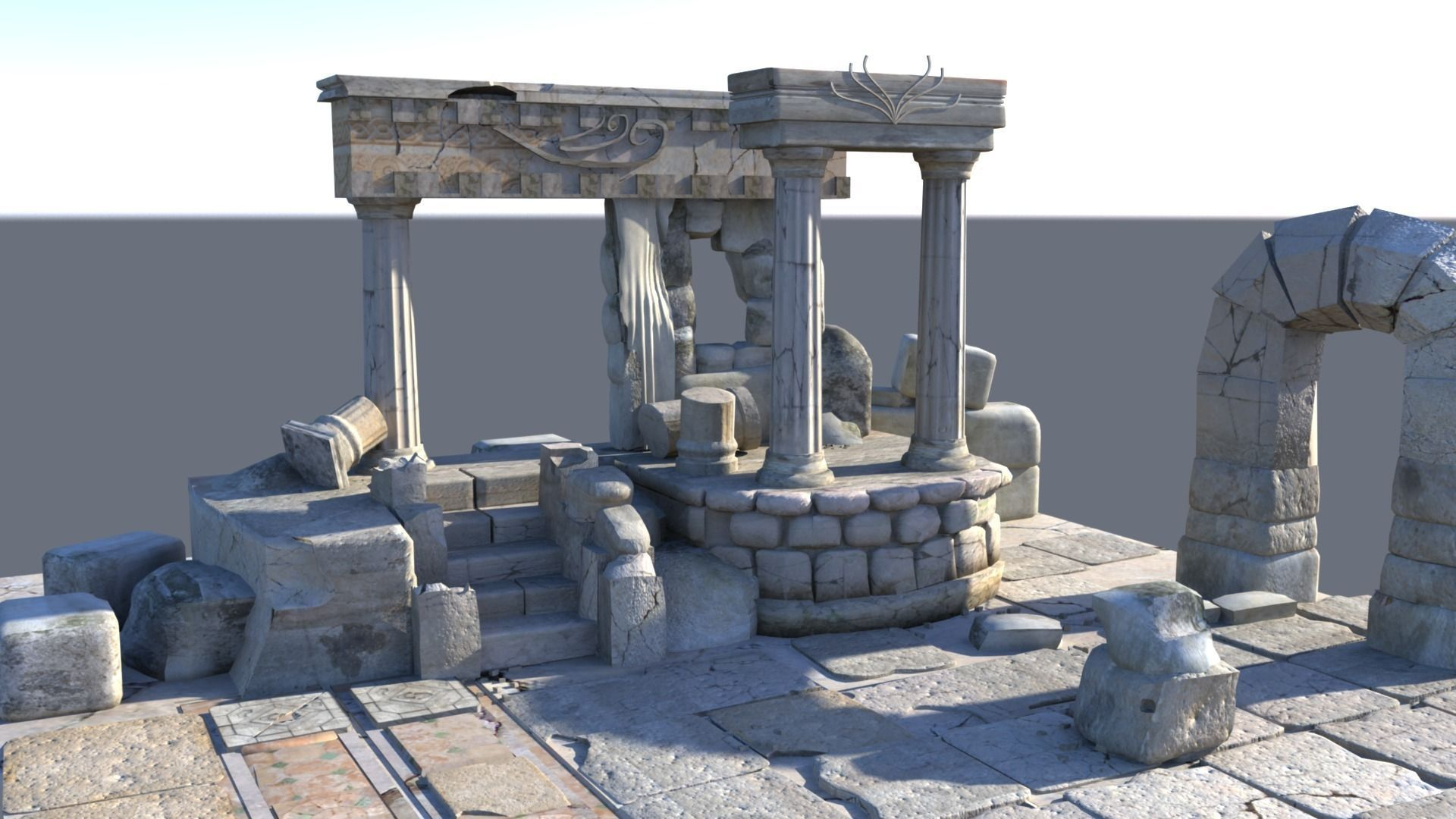 3D Detailed Temple Ruins | CGTrader