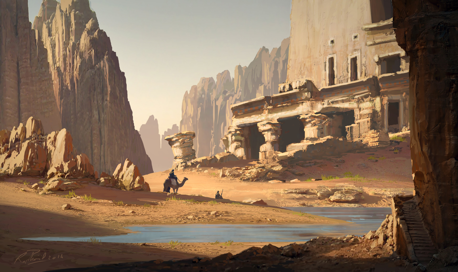 ArtStation - Ruins in The Desert, Raphael Lacoste