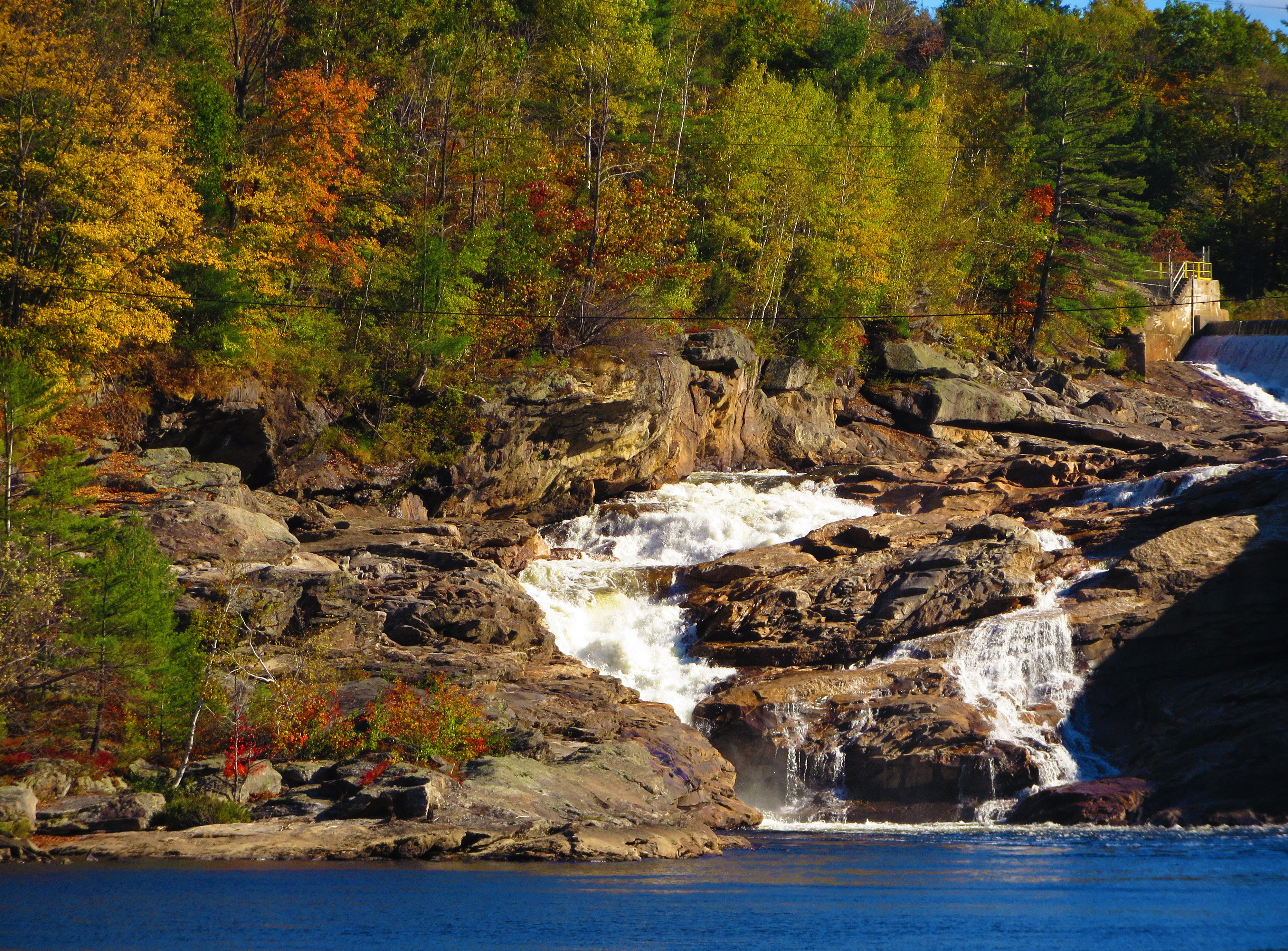 Rumford Falls in Autumn, Splash, Serene, River, Photos, HQ Photo
