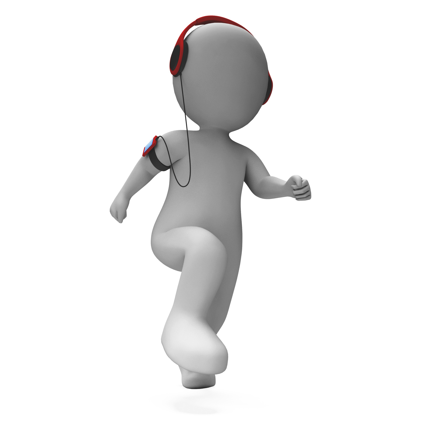 Runner character listen to music shows music listening jogging photo