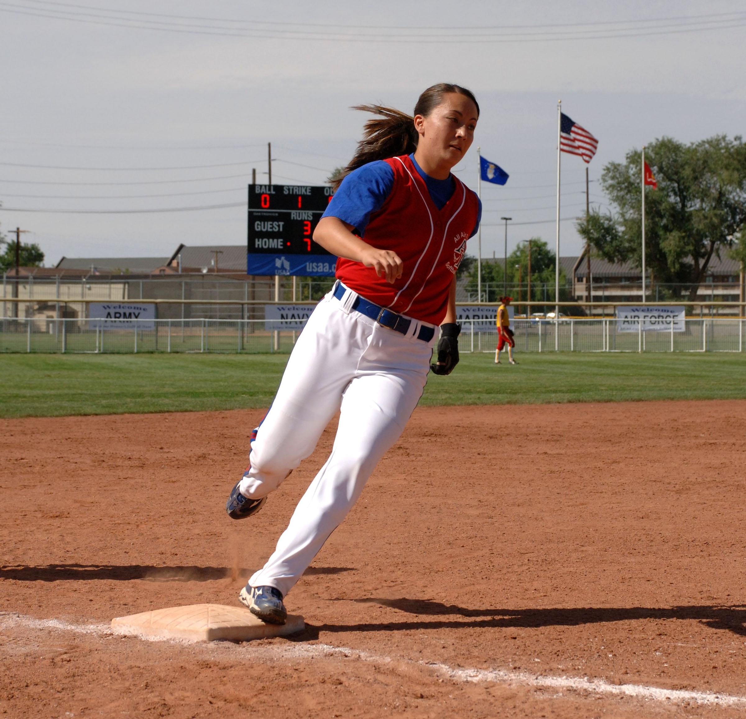 Runner on the field photo