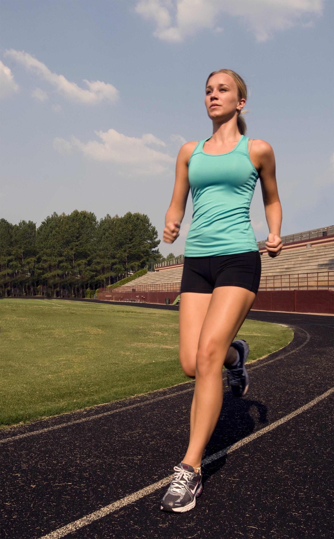Running alone photo