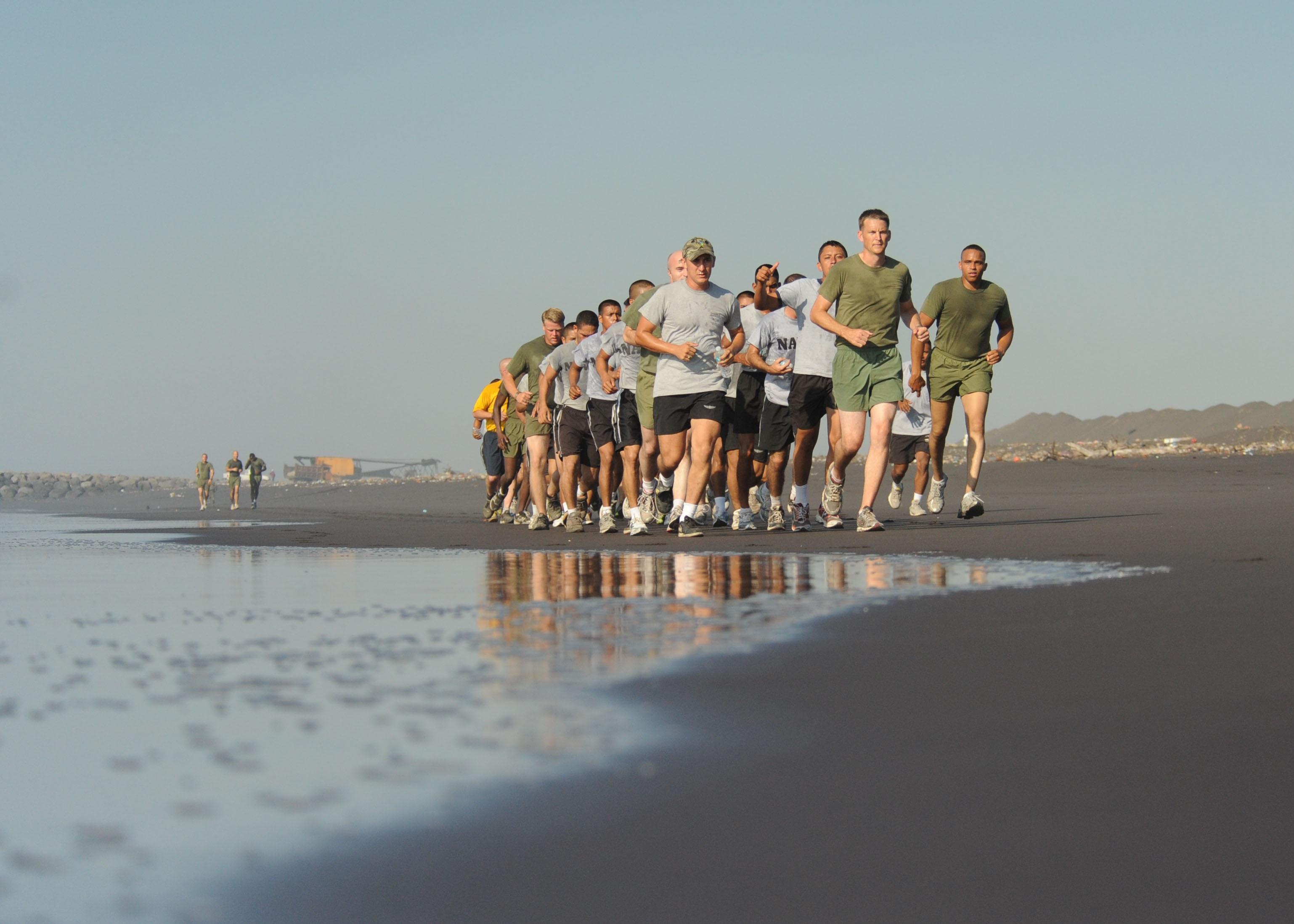 Running on the beach photo