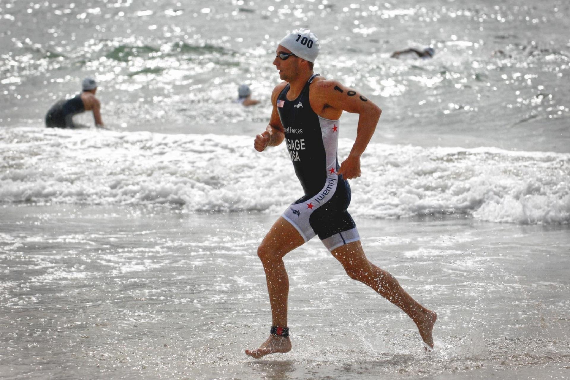 Running on the Beach, Activity, Athlete, Beach, Fit, HQ Photo