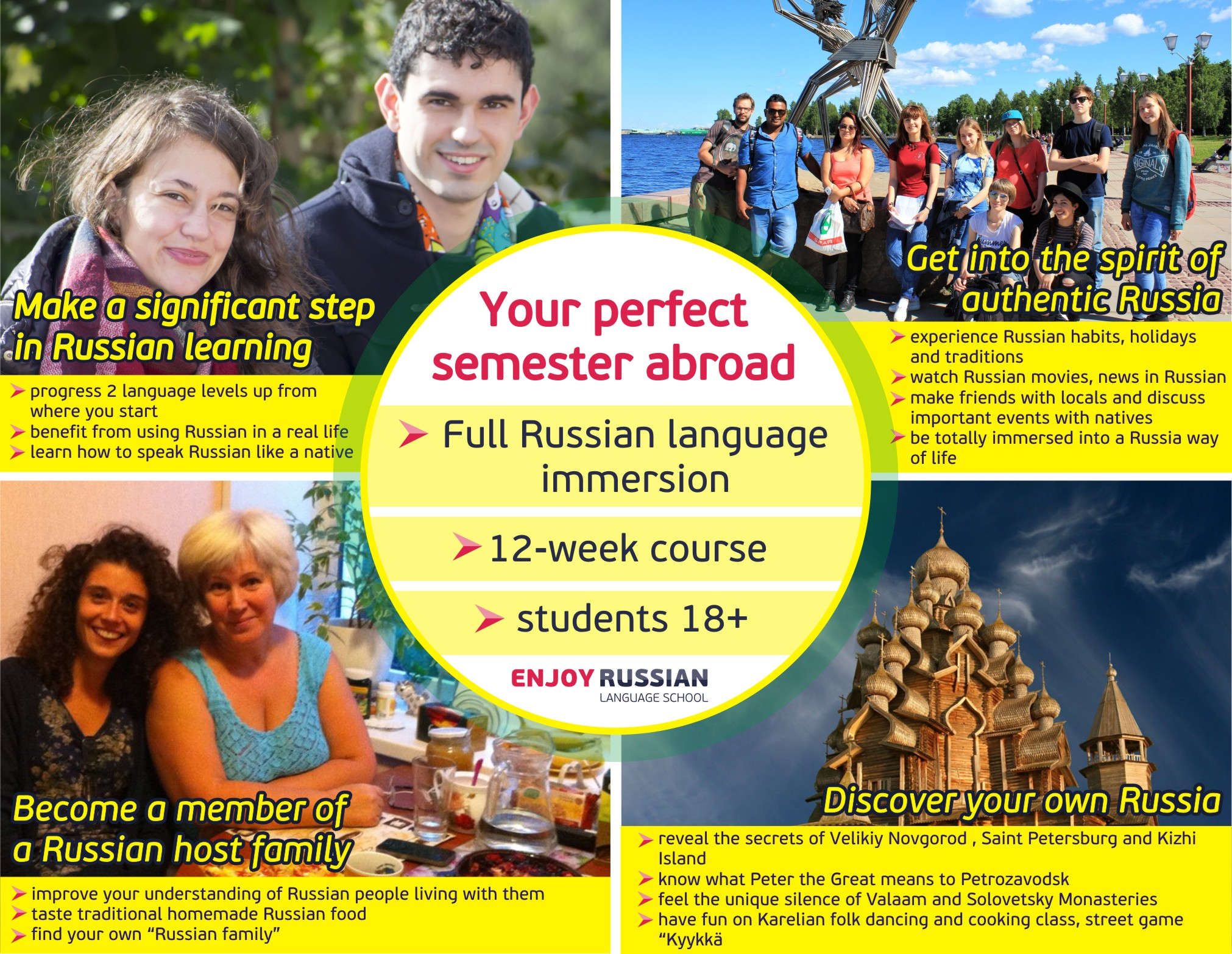 Long-term Russian courses - academic, brilliant, effective