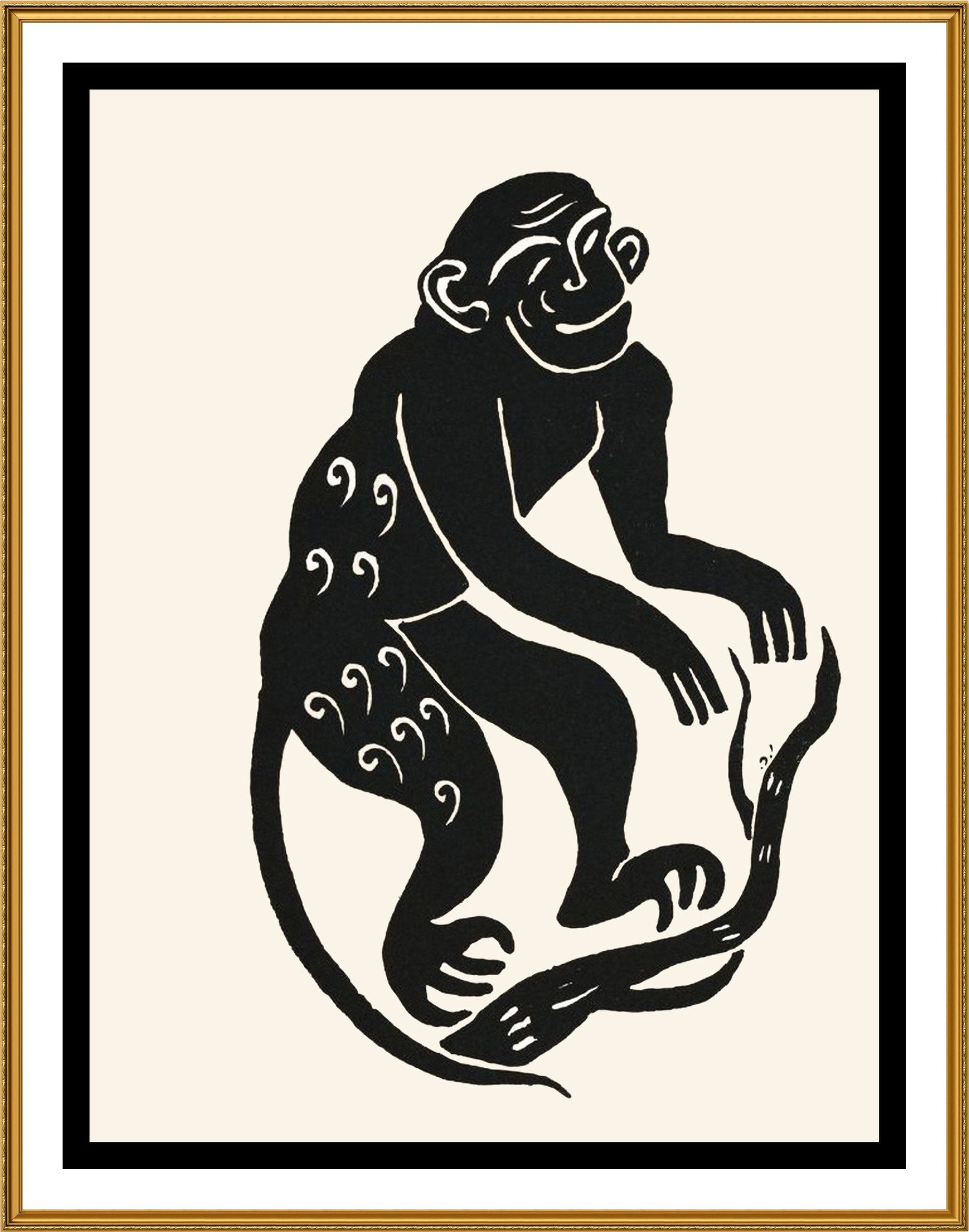 Russian Folk Art Animal Monkey by Issachar Ber Ryback's Counted ...