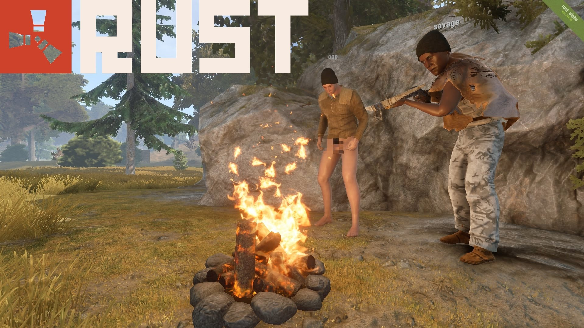 RUST: Early Game Footage & Tips - YouTube