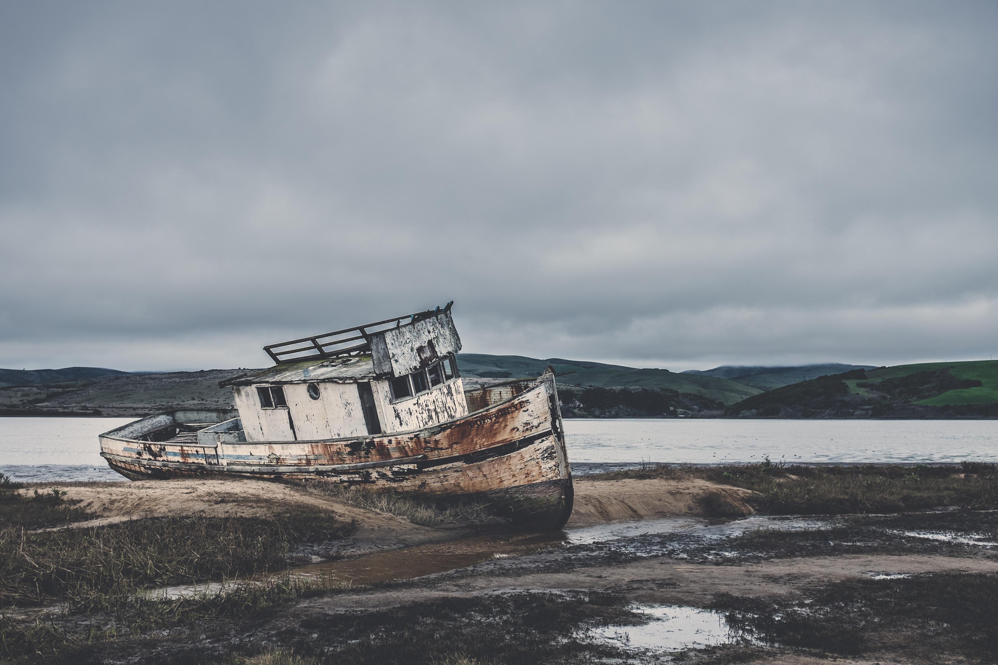 Rust, Abandoned, Boat, Flow, Landscape, HQ Photo
