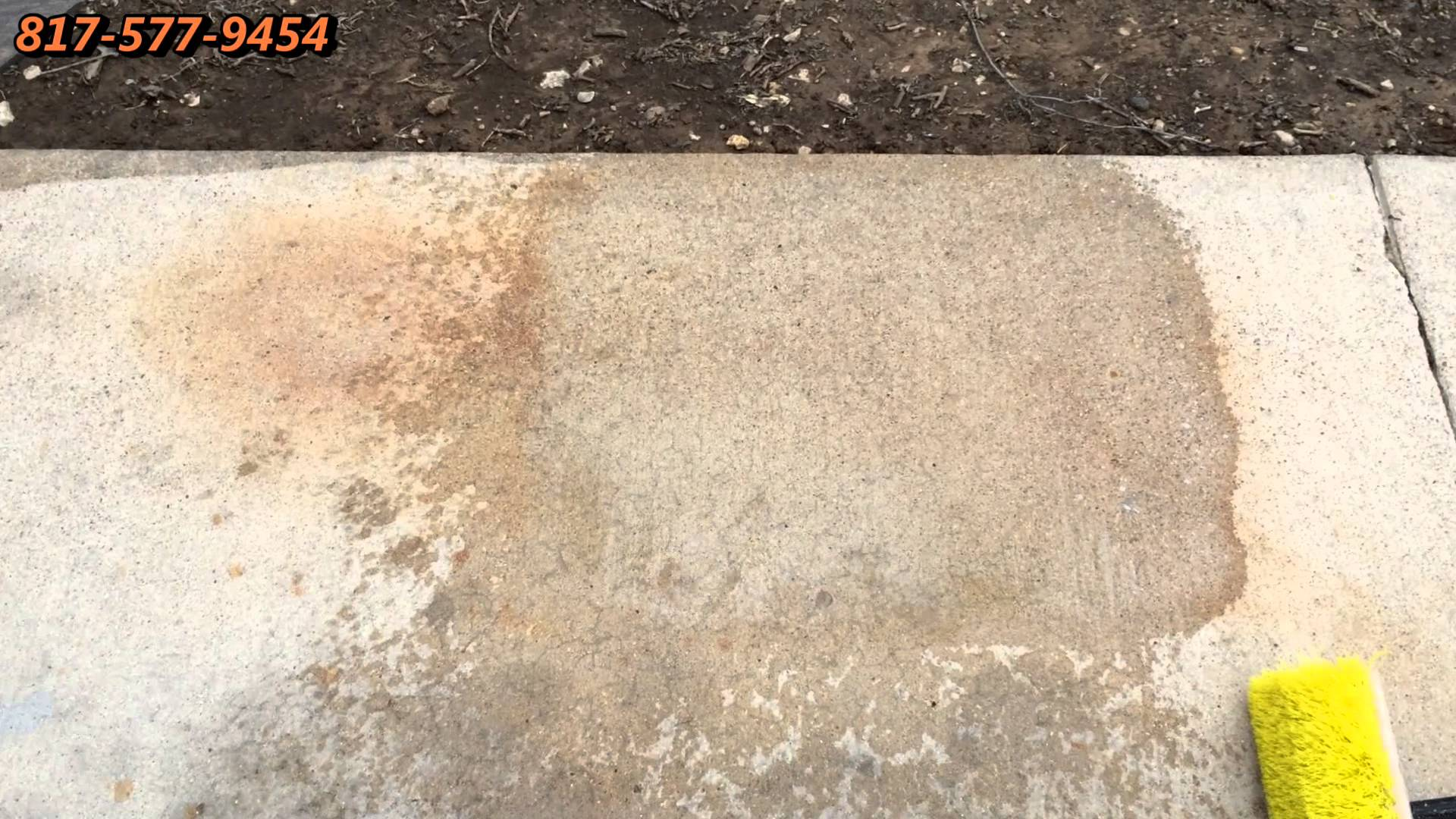 Rust and Oil Stains Removal from Concrete Dallas Fort Worth TX - YouTube