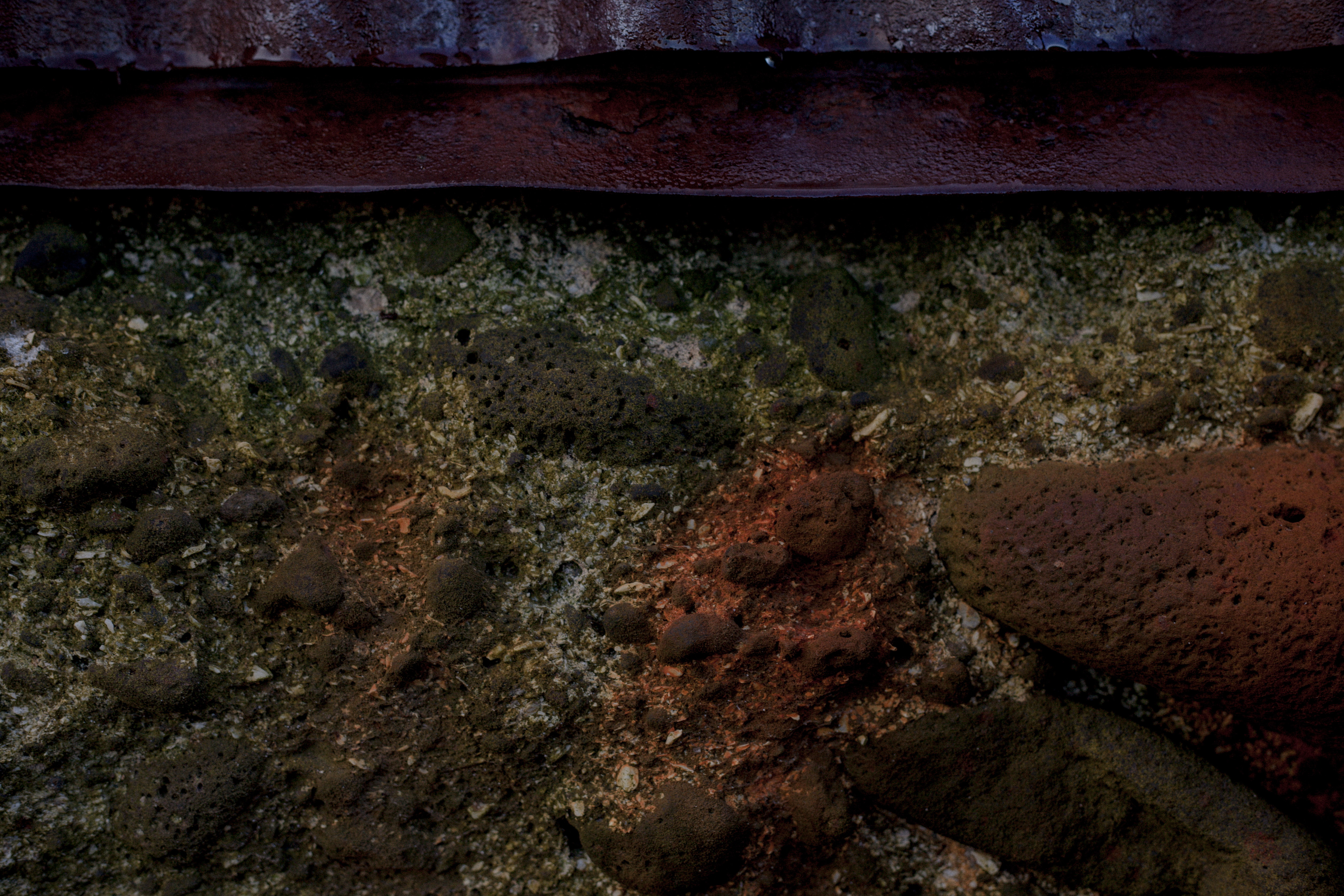 Rust stained concrete wall photo