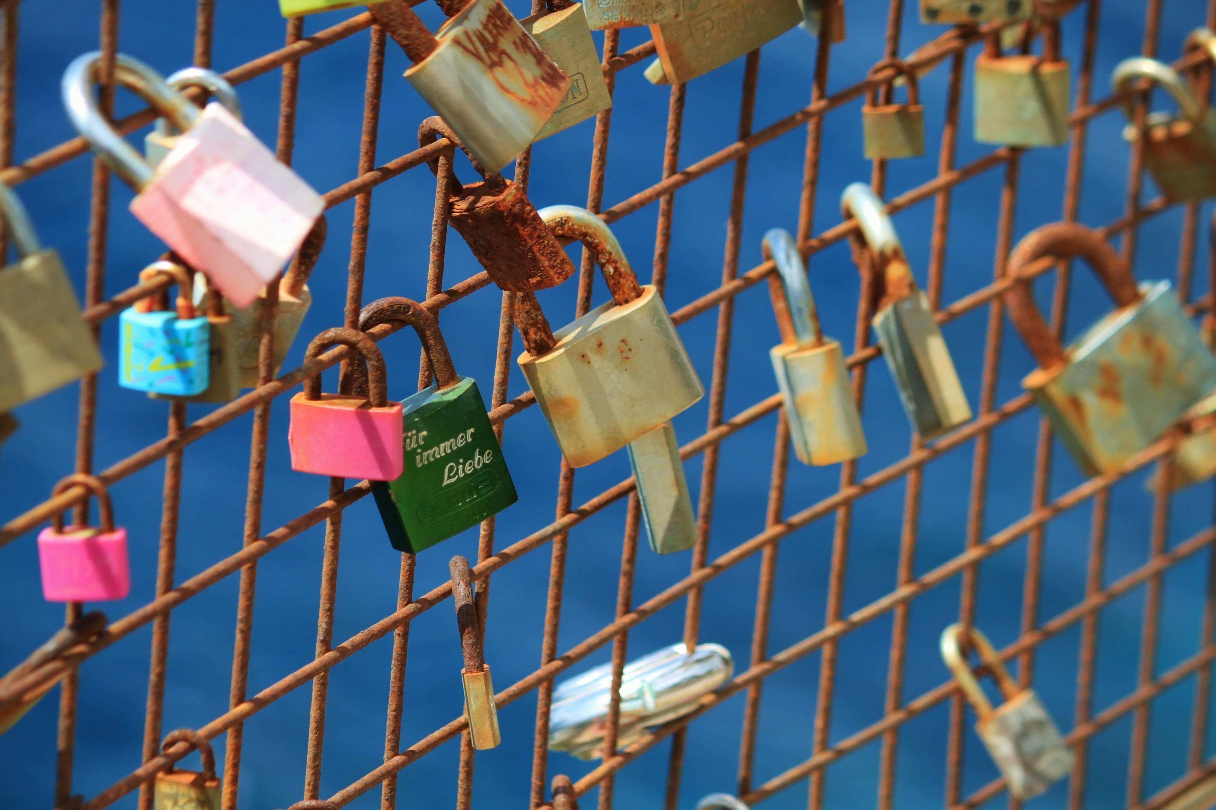 Rust, Grid, Key, Lock, Metal, HQ Photo