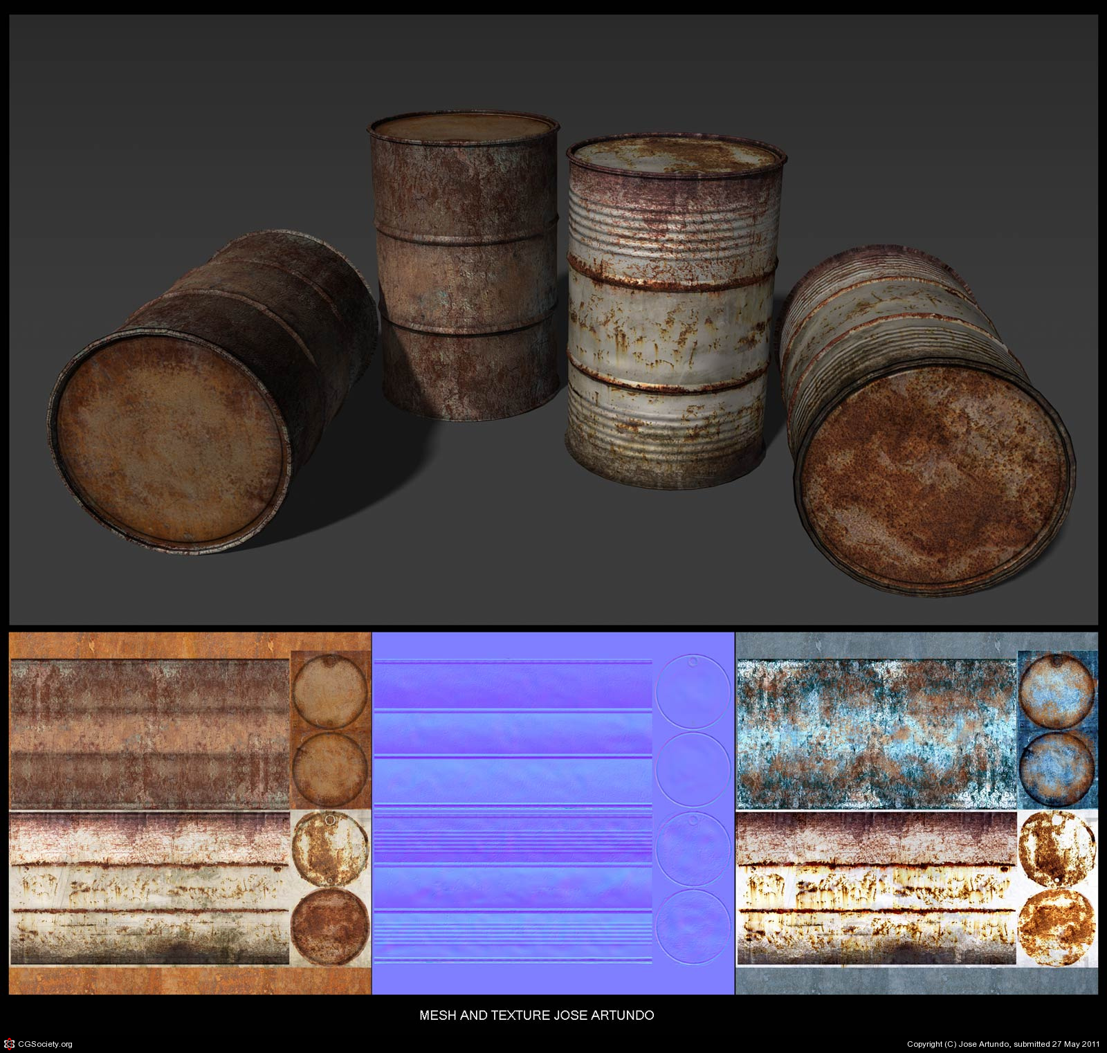 Rusty barrels by Jose Artundo | 3D | CGSociety