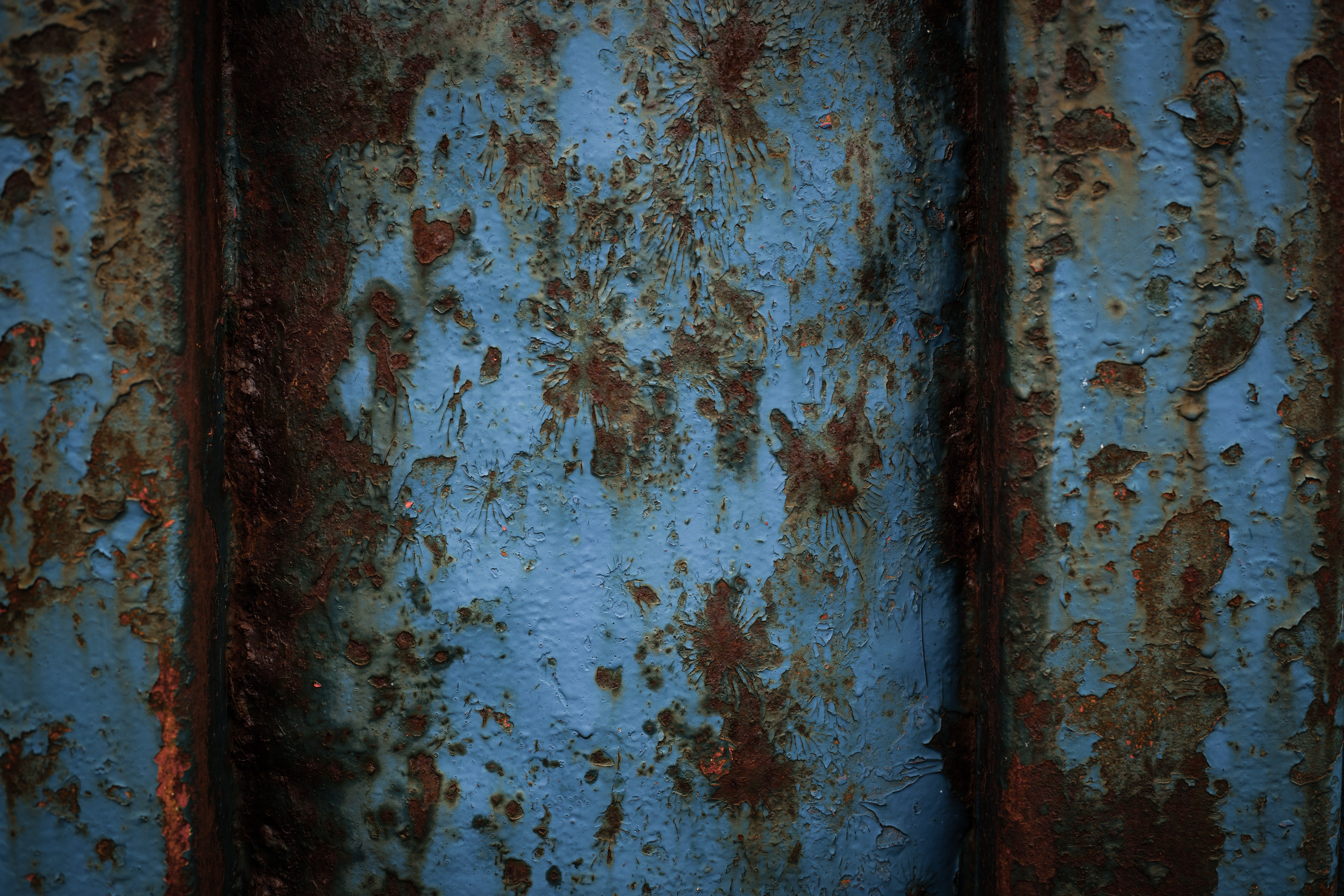Rusted blue metal texture photo