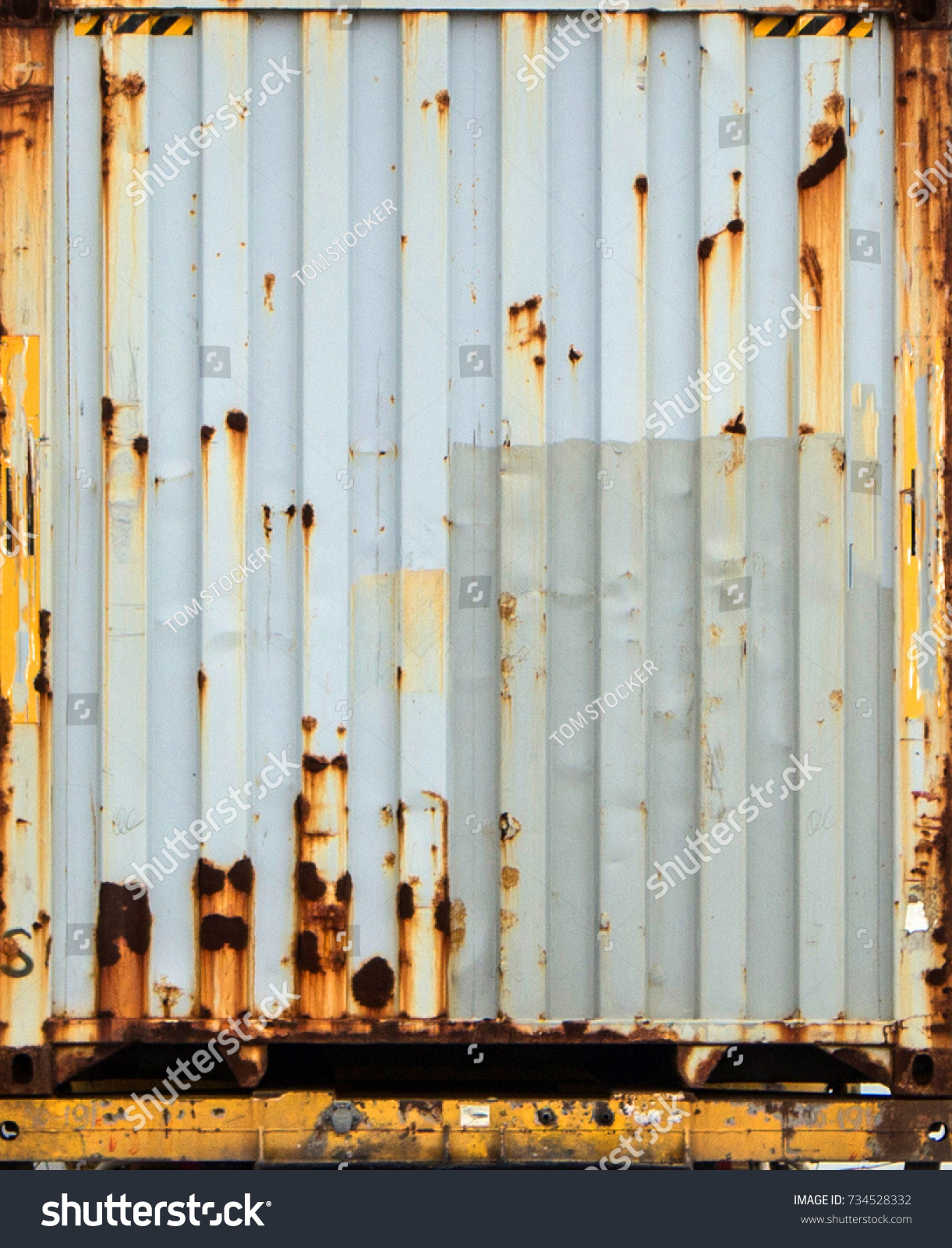 Rusty metal container photo