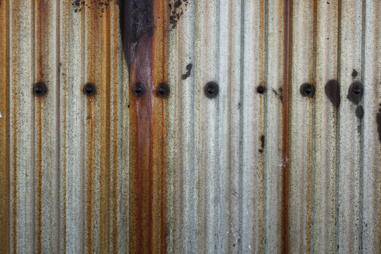 Rusted corrugated iron photo