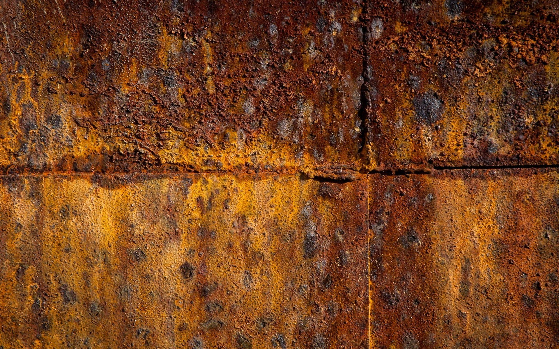 Rusted steel tank photo