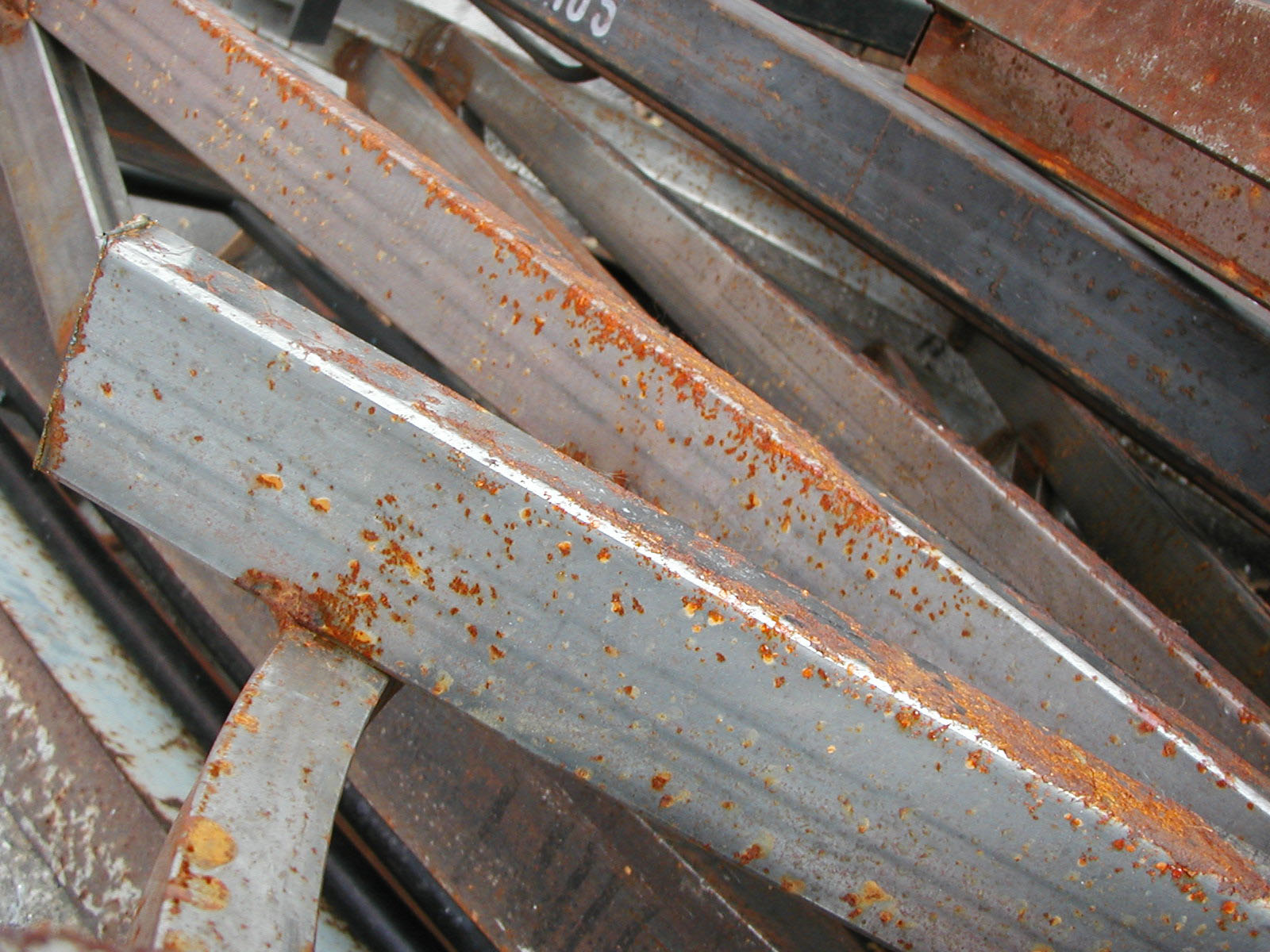 Rusted metal bars photo