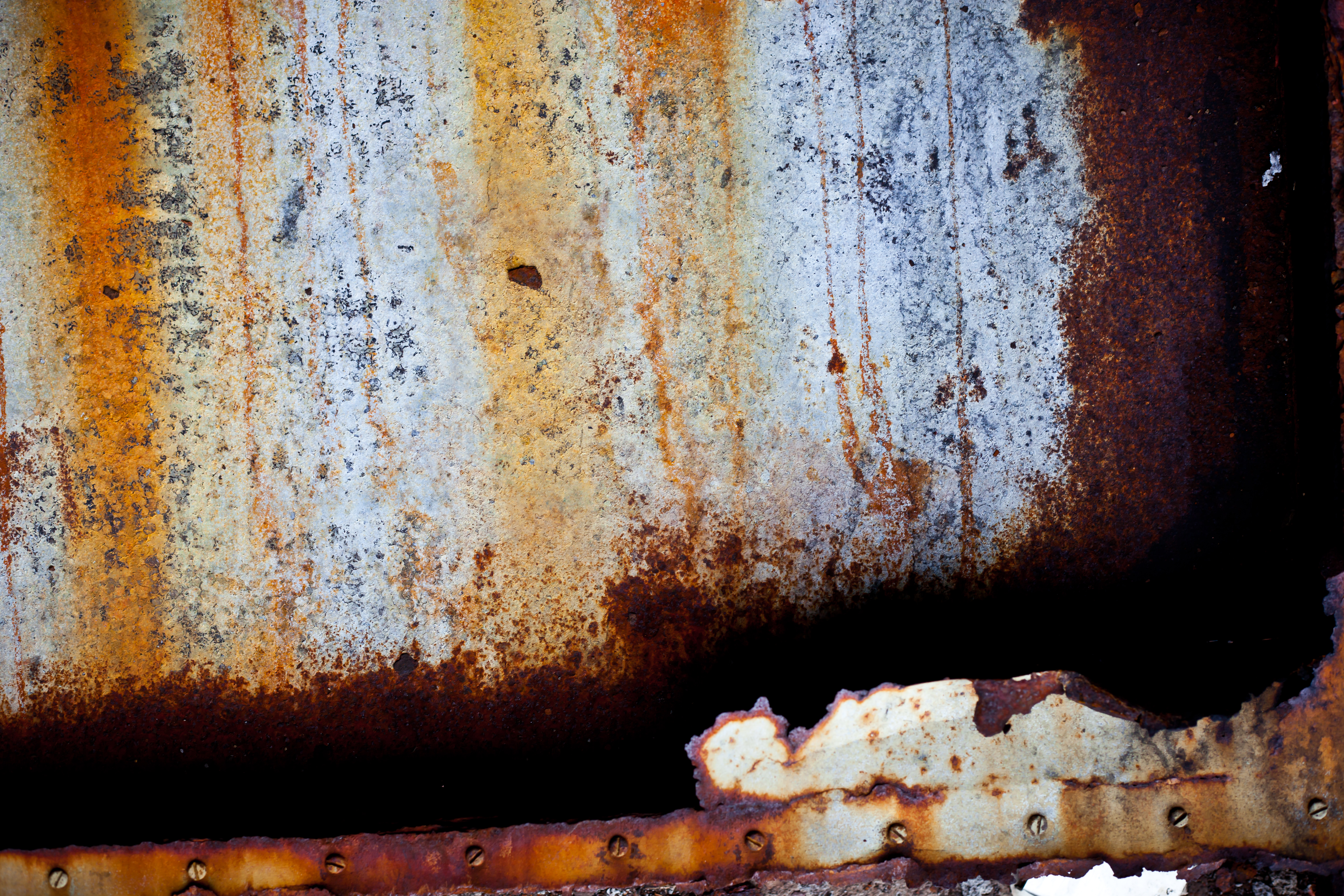 Rusted Metal Texture, Aged, Peeled, Worn, Vintage, HQ Photo