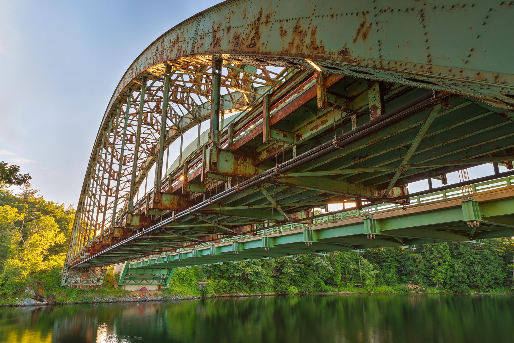 Rusted sunset bridge - hdr photo