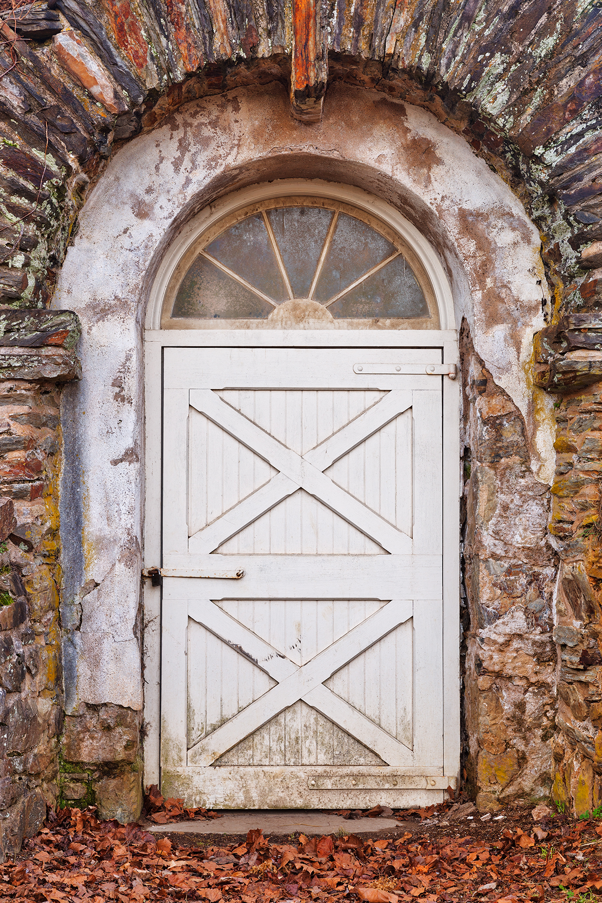 Rustic arch door - hdr photo