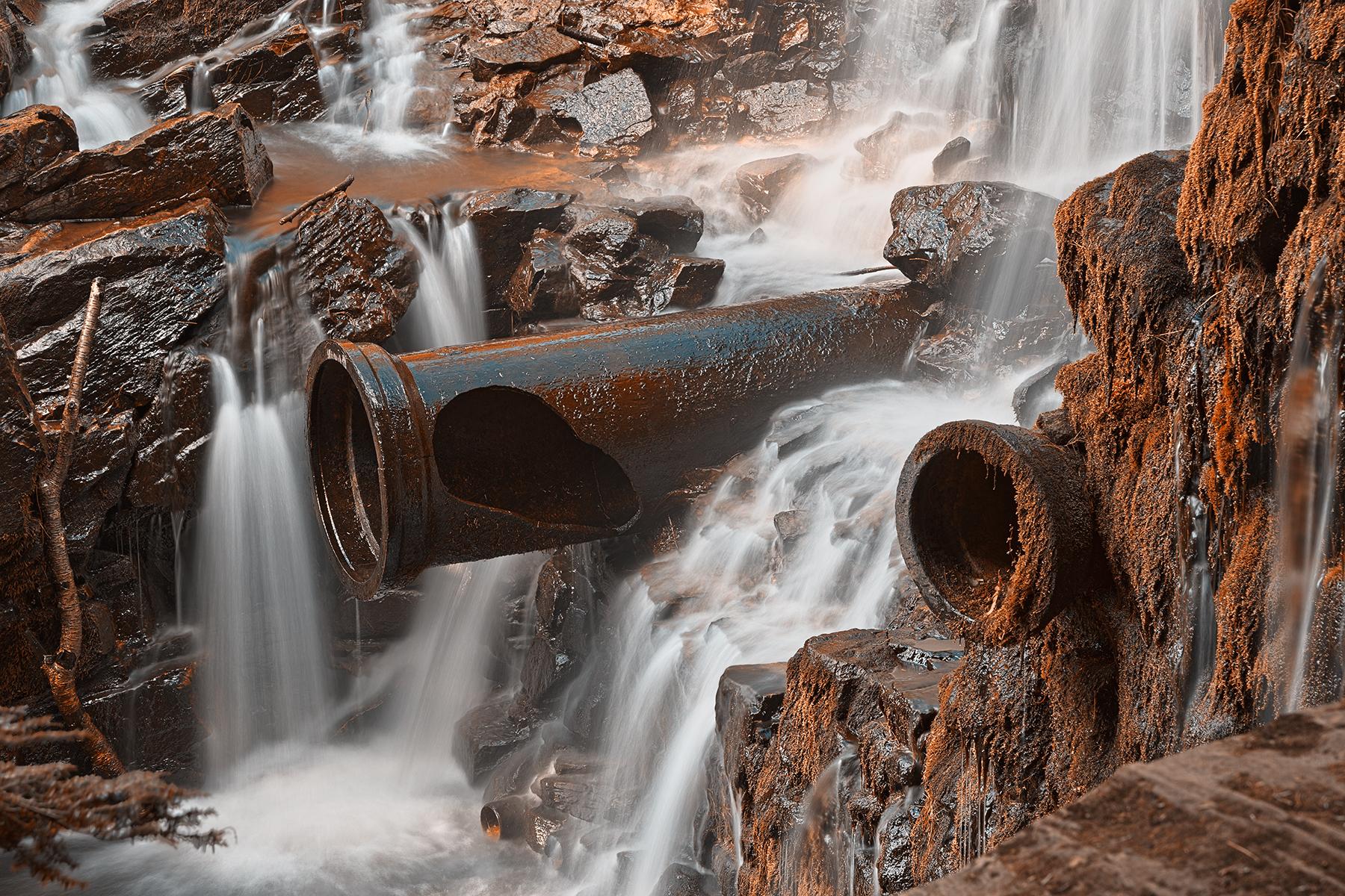 Rustic dam falls - hdr photo