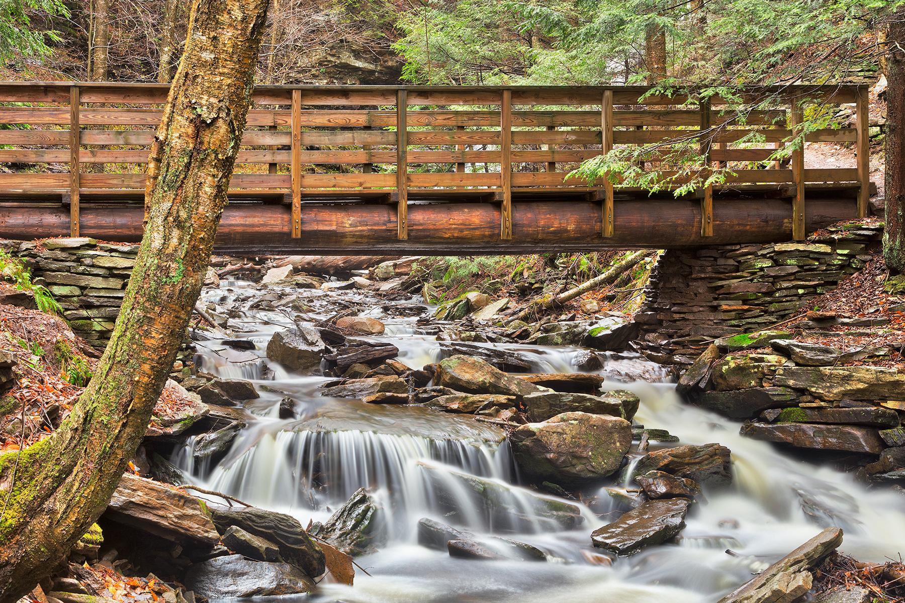 Rustic kitchen creek bridge - hdr photo
