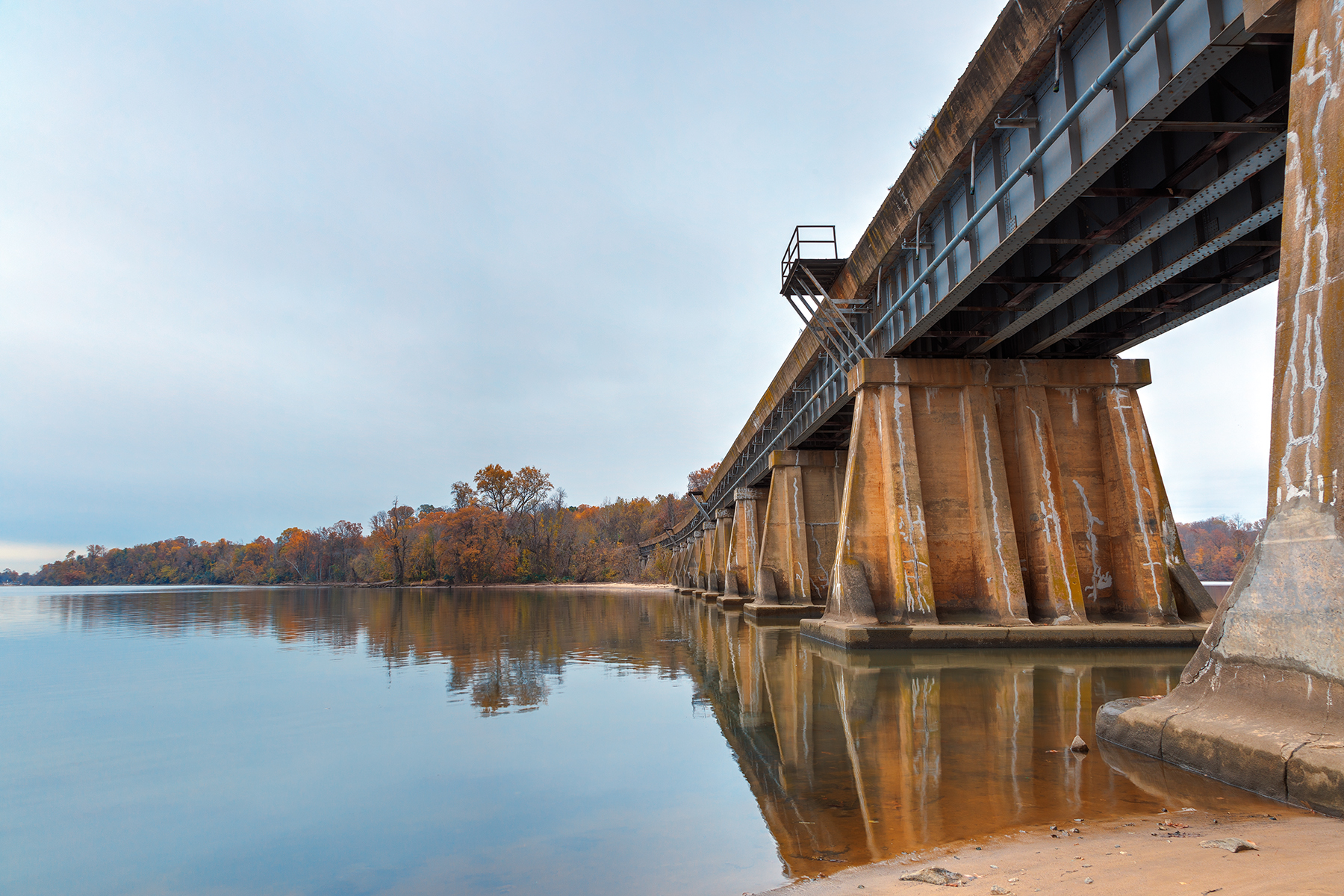 Rustic Leesylvania Bridge - HDR, Age, Reflections, Shadow, Shades, HQ Photo