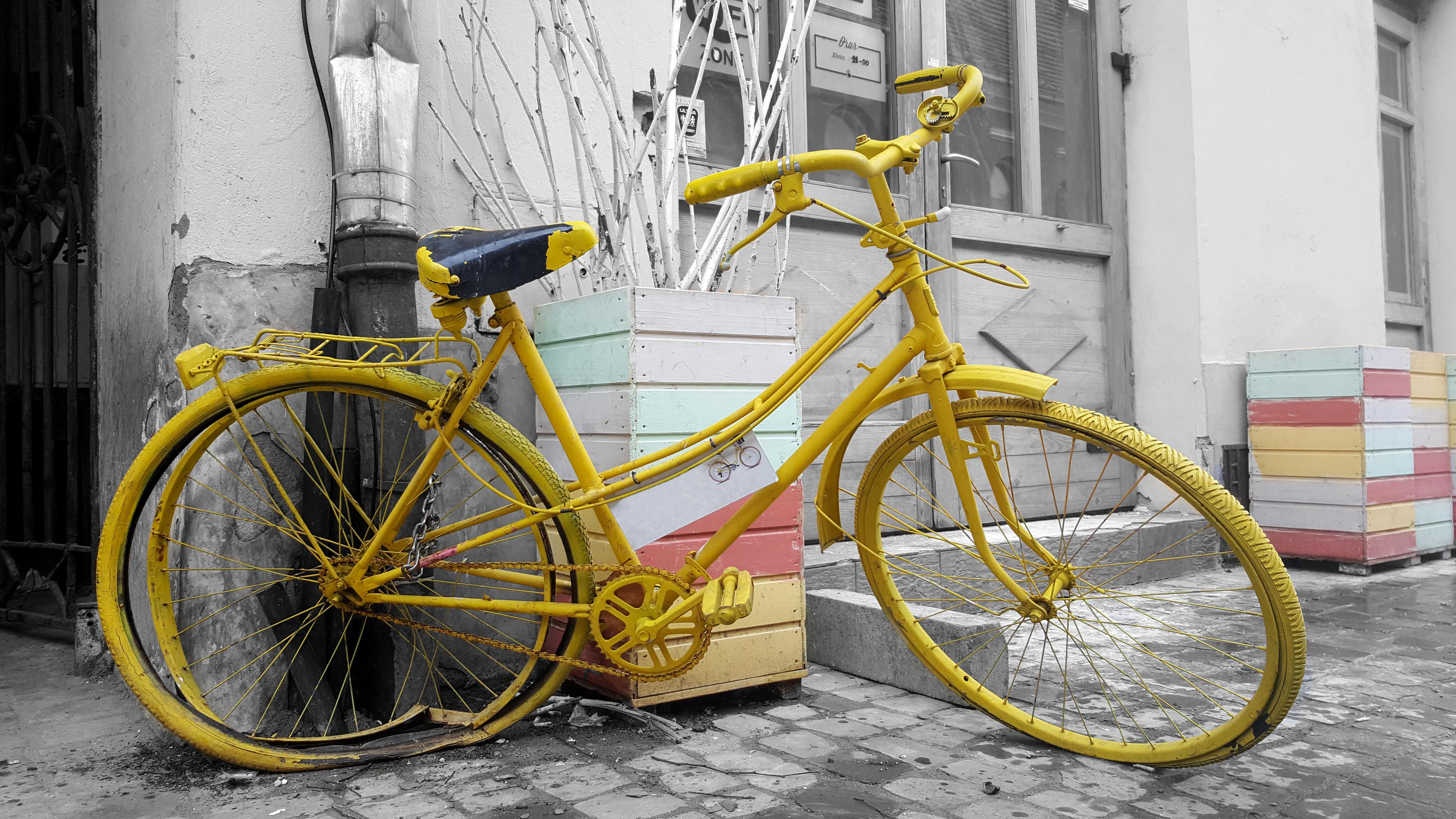 Free Images : black and white, wheel, retro, parking, city, urban ...