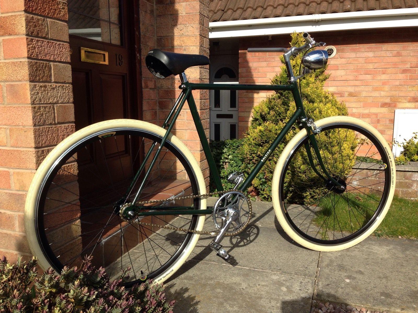 Vintage Raleigh The All Steel Bicycle Fixie Singlespeed Retro Bike ...